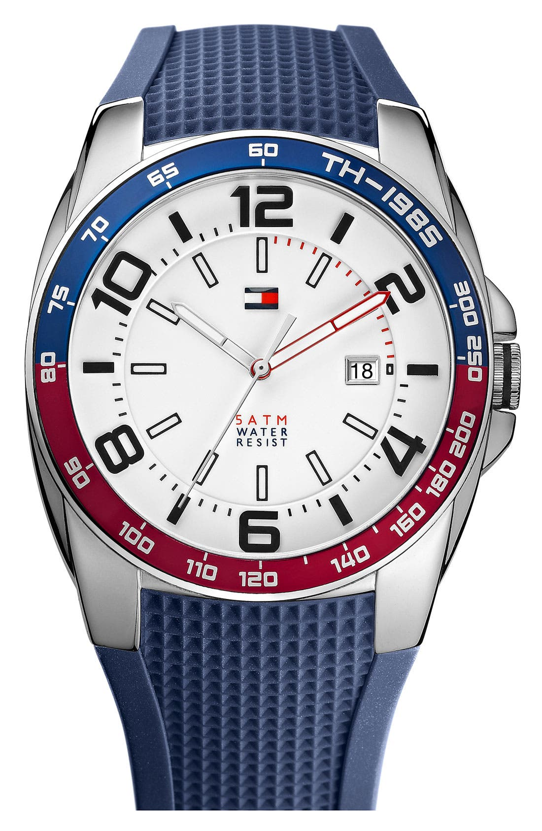 Main Image - Tommy Hilfiger Silicone Strap Watch, 44mm