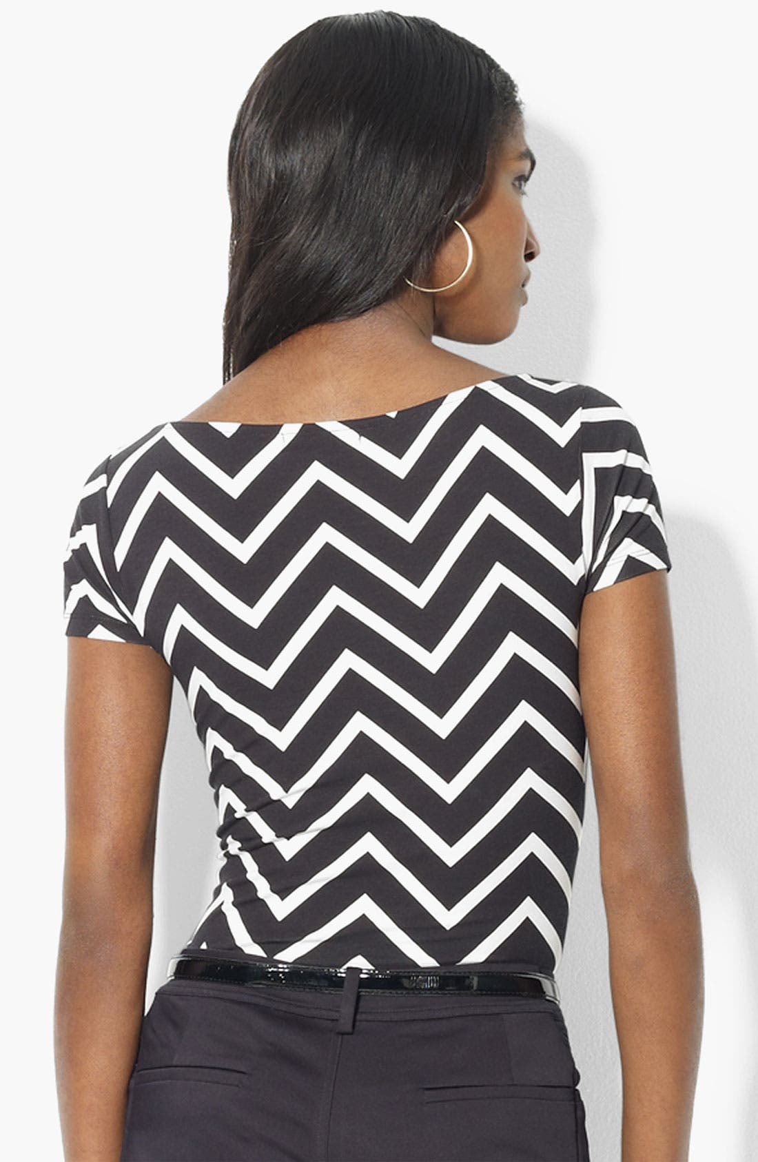 Alternate Image 2  - Lauren Ralph Lauren Zigzag Stripe Top