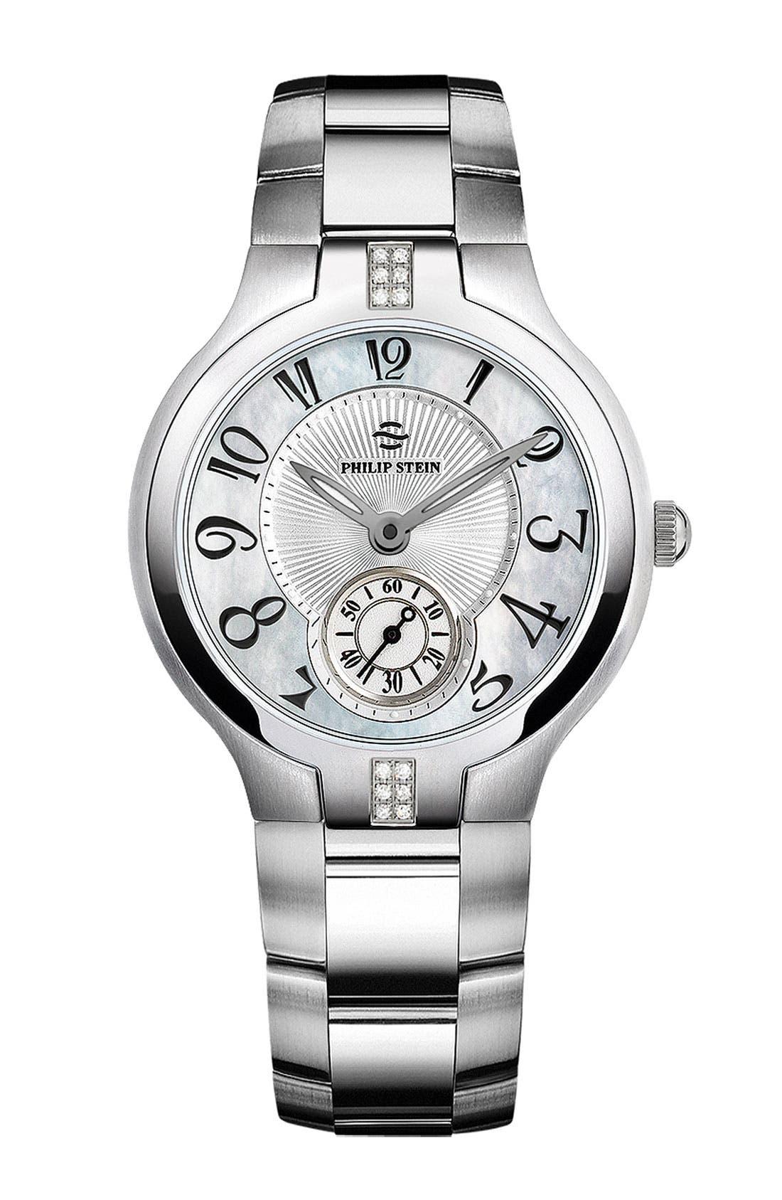 Alternate Image 2  - Philip Stein® Round Diamond Watch Case, 35mm