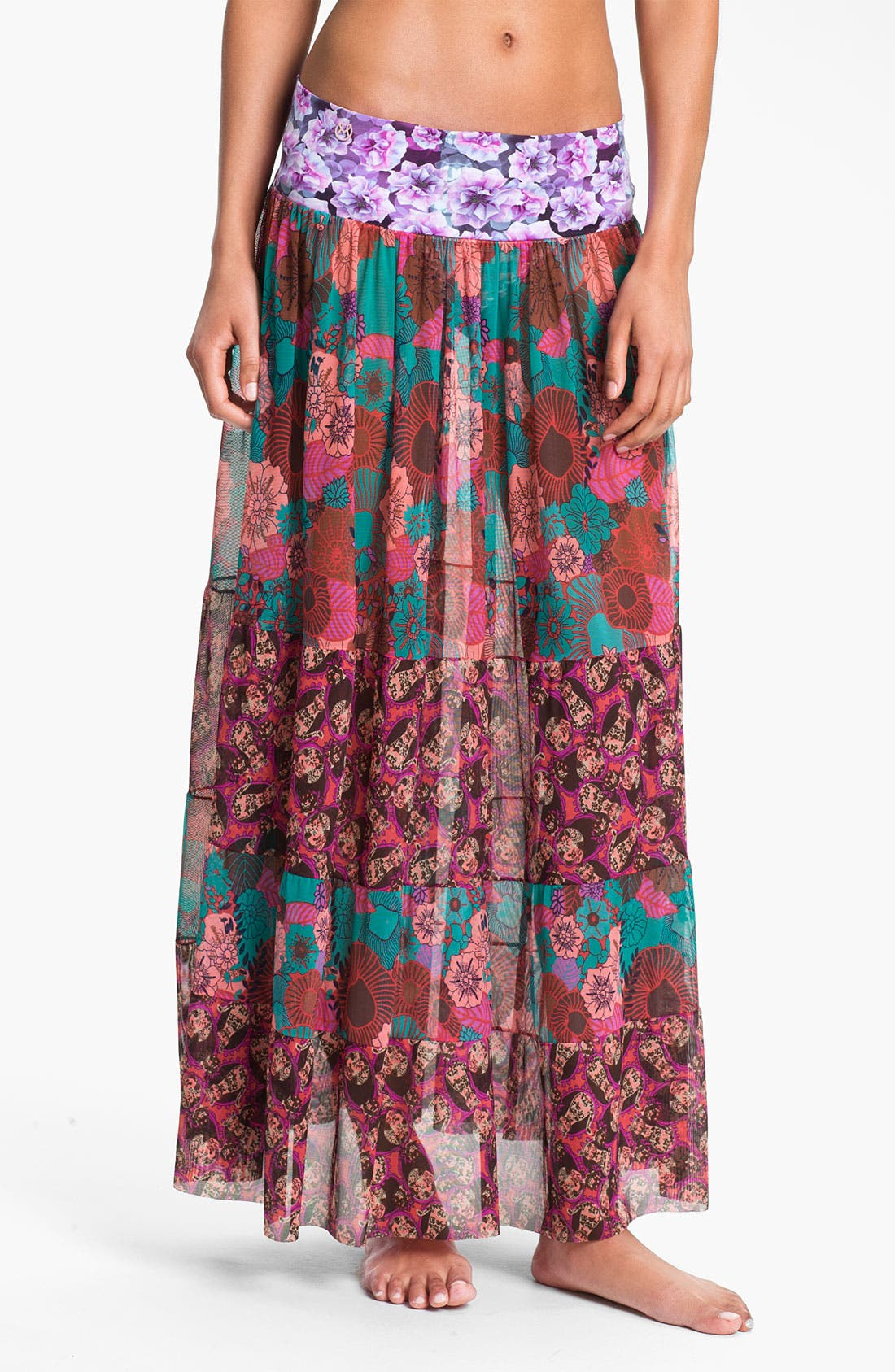 Main Image - Maaji 'Cherry Red Glory' Skirt Cover-Up