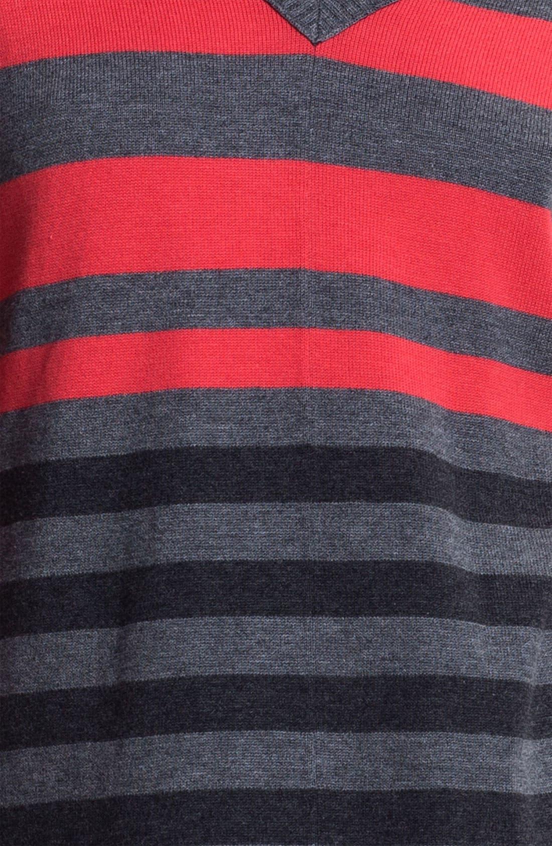 Alternate Image 3  - Caslon Double V-Neck Tunic Sweater (Petite)