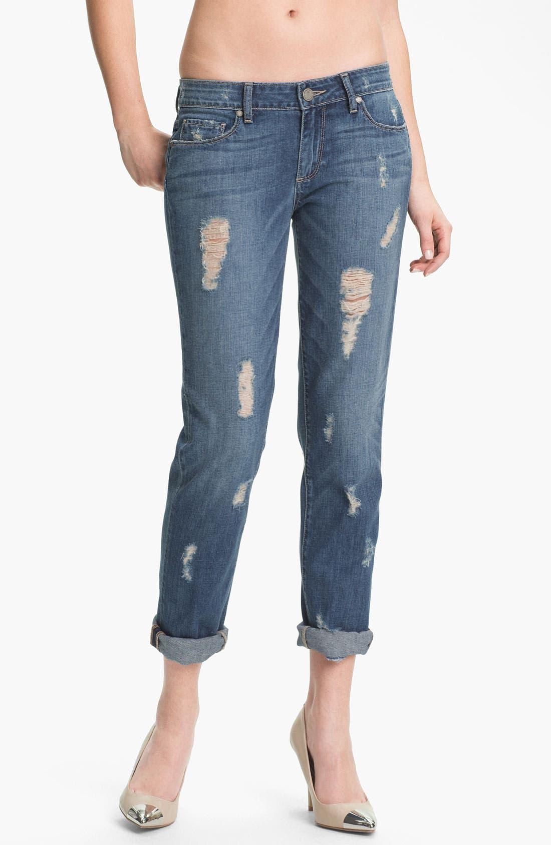 Alternate Image 1 Selected - Paige Denim 'Jimmy Jimmy' Distressed Skinny Jeans (Riley Destruction)