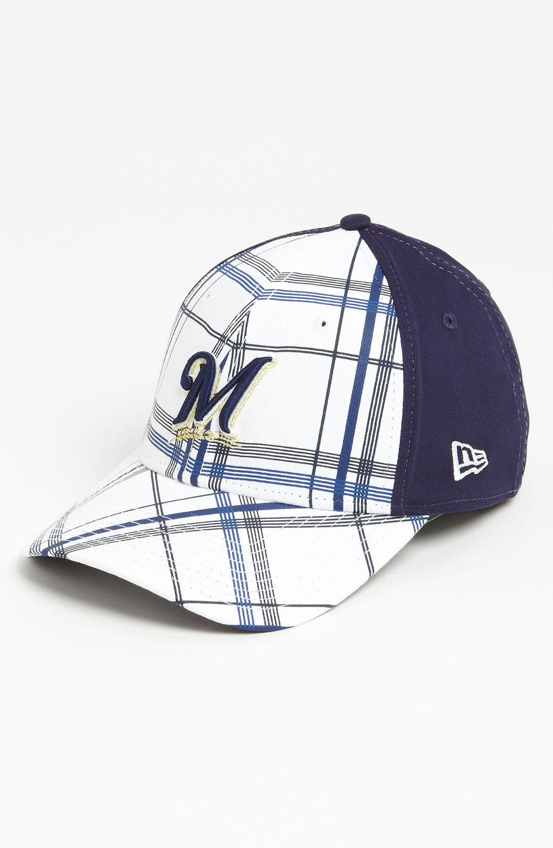 Alternate Image 1 Selected - New Era Cap 'Milwaukee Brewers - Plaidtastic' Fitted Baseball Cap