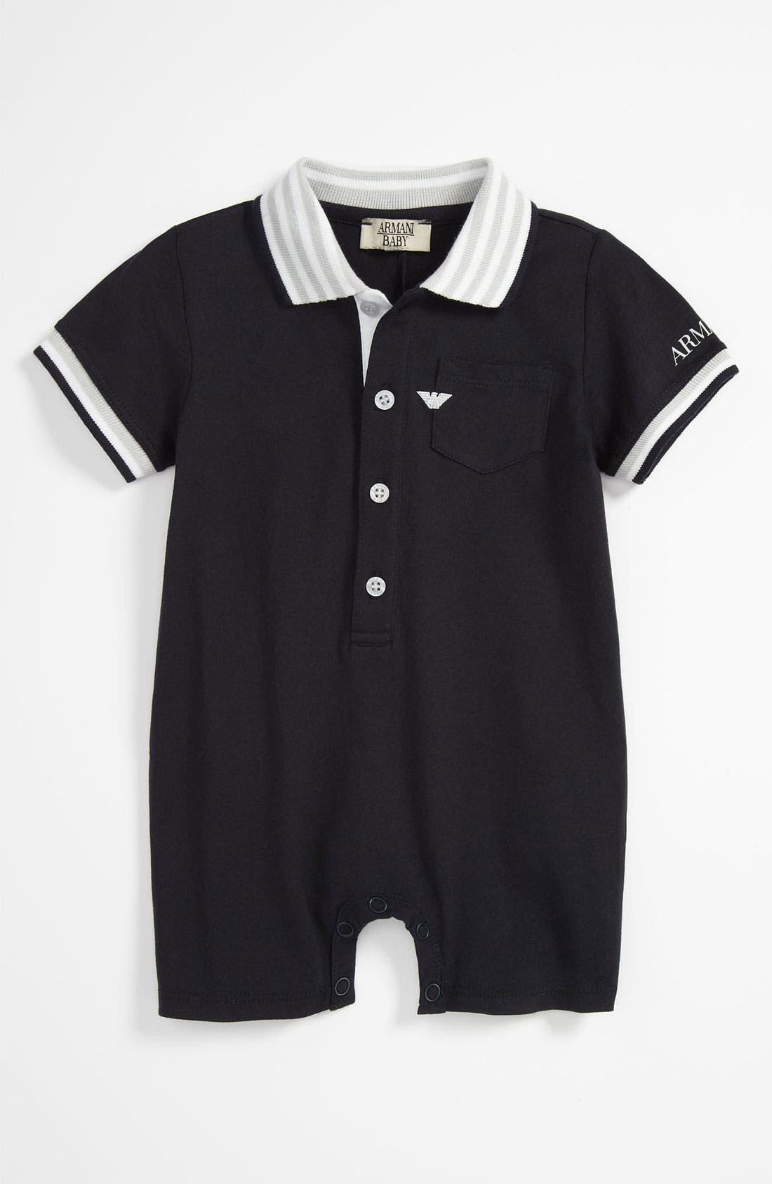 Main Image - Armani Junior Romper (Baby)
