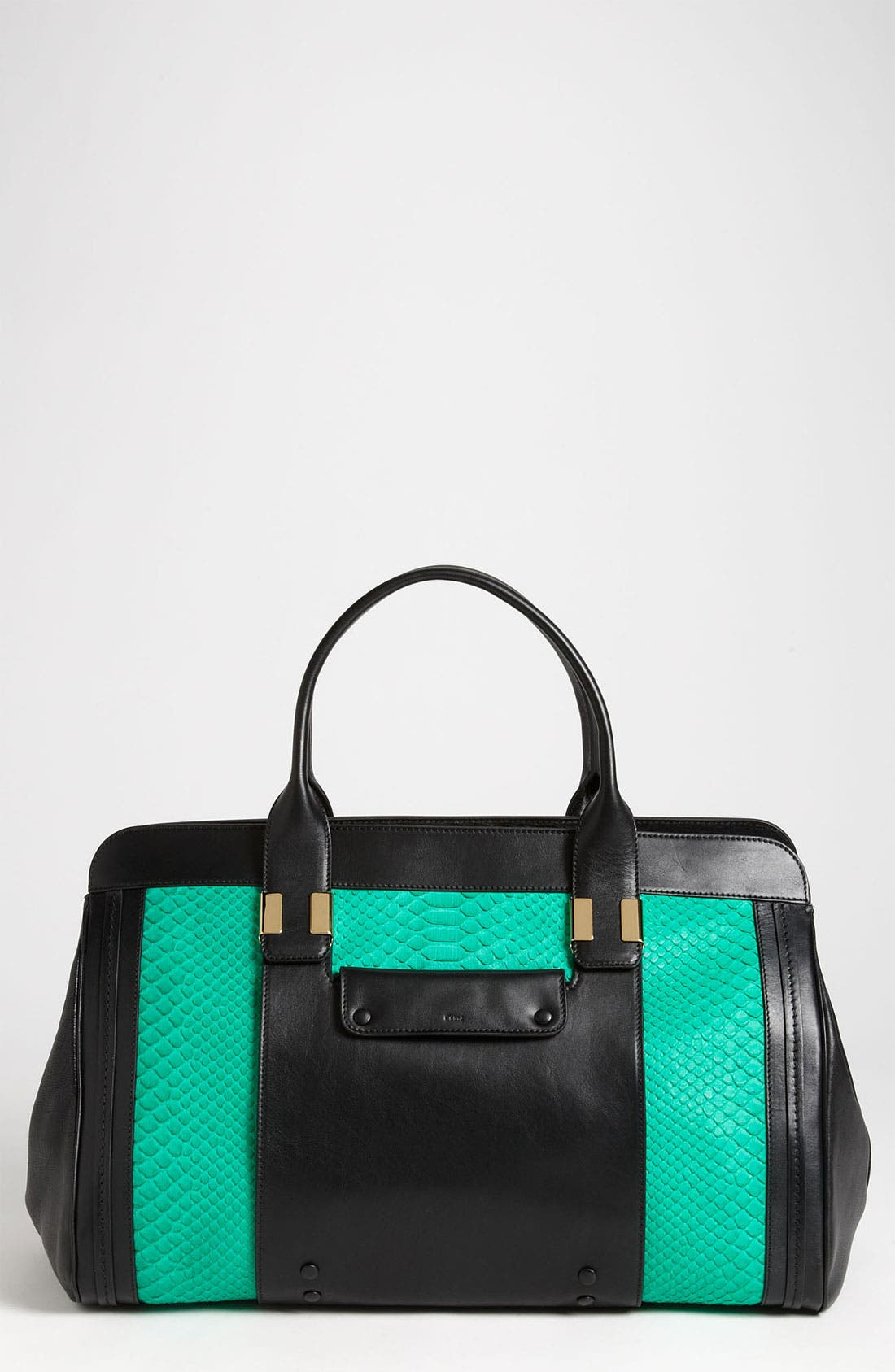 Alternate Image 1 Selected - Chloé 'Alice - Large' Genuine Python & Leather Tote