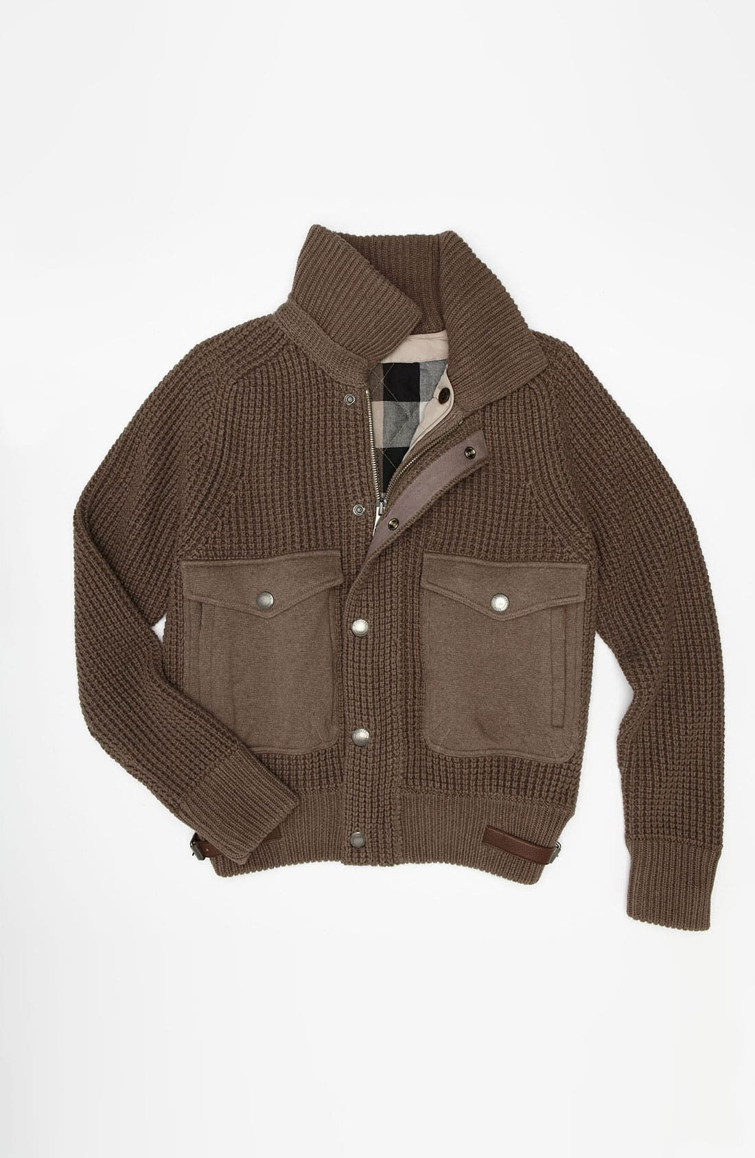 Alternate Image 4  - Burberry Brit 'Acton' Knit Bomber Jacket