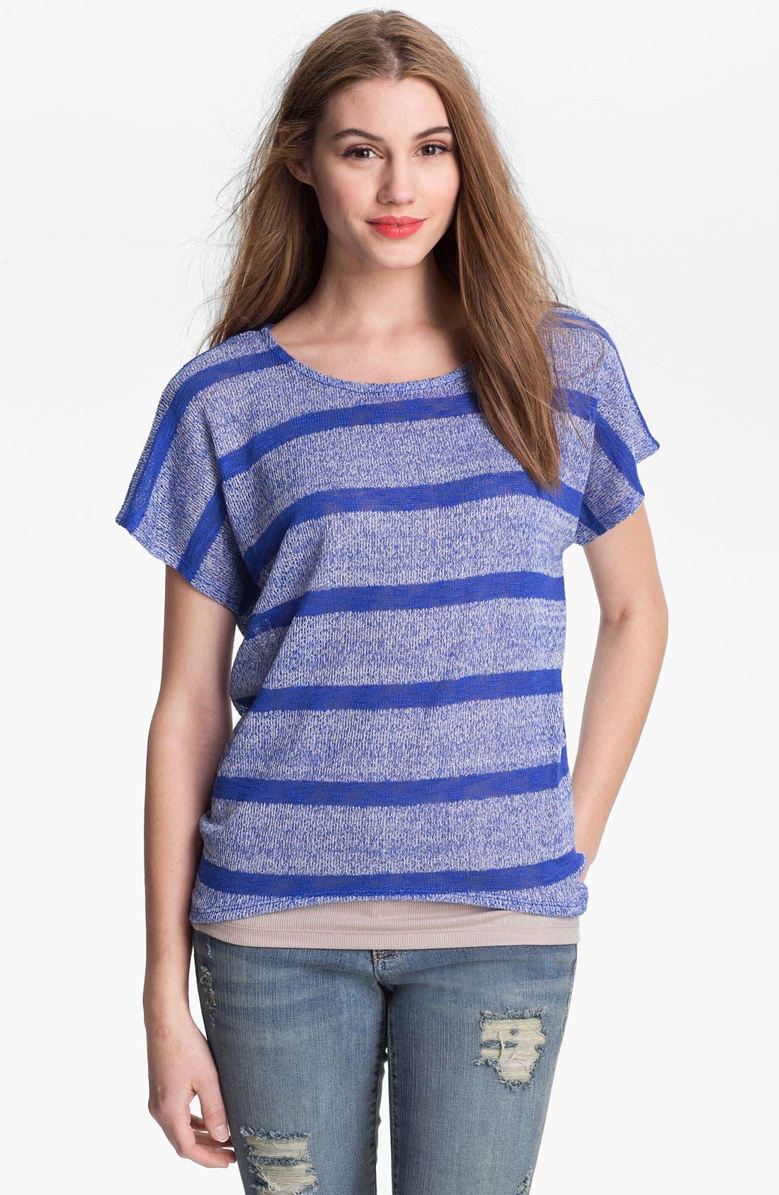 Main Image - Bobeau Stripe High/Low Sweater