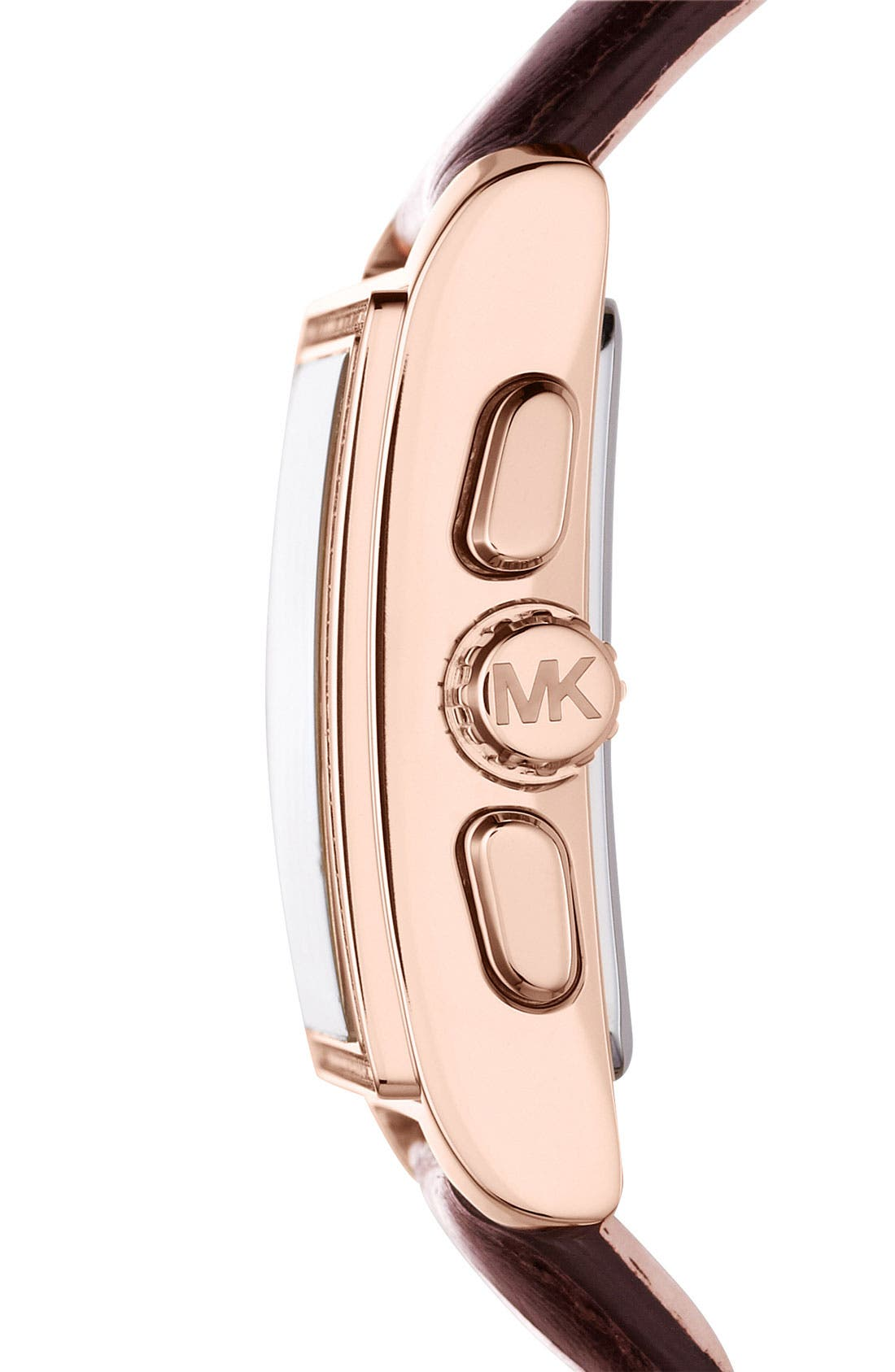 Alternate Image 2  - Michael Kors 'Gia' Square Chronograph Leather Strap Watch, 37mm