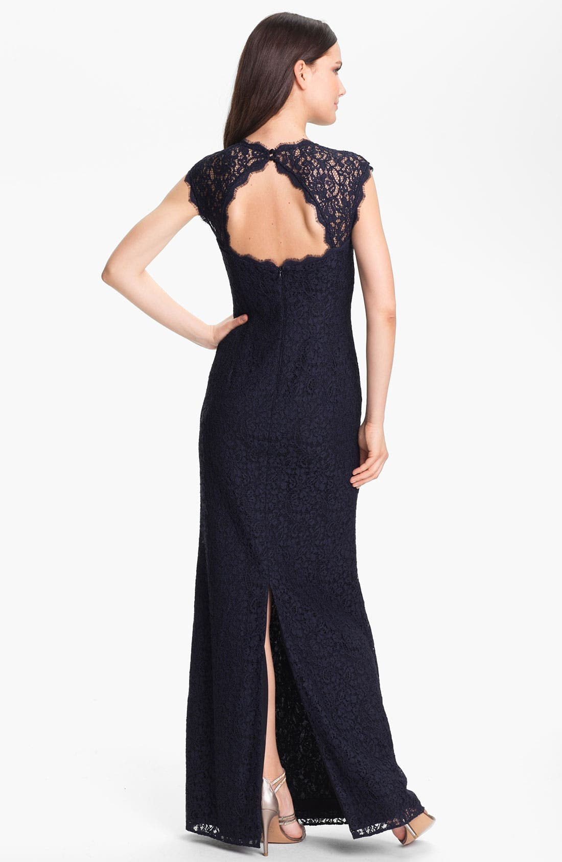 Alternate Image 2  - Adrianna Papell Back Cutout Lace Gown