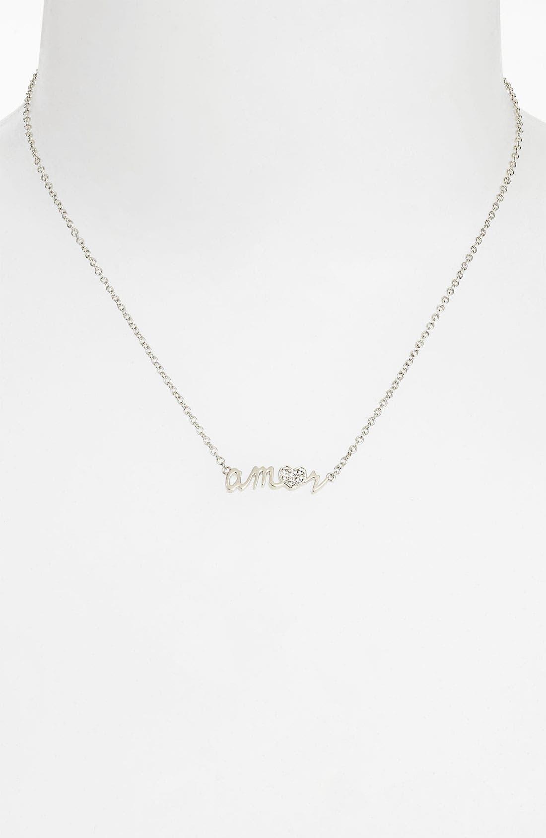 Alternate Image 2  - Ariella Collection 'Messages - Amor' Script Pendant Necklace