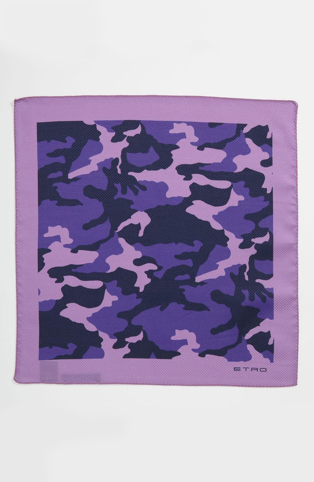 Alternate Image 2  - Etro Camo Silk & Cotton Pocket Square
