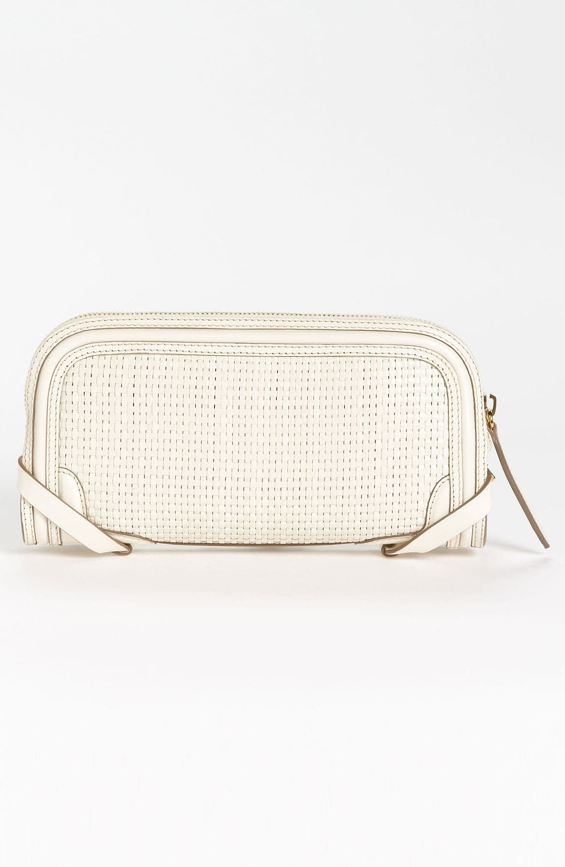 Alternate Image 4  - Burberry 'Bridle' Woven Leather Clutch