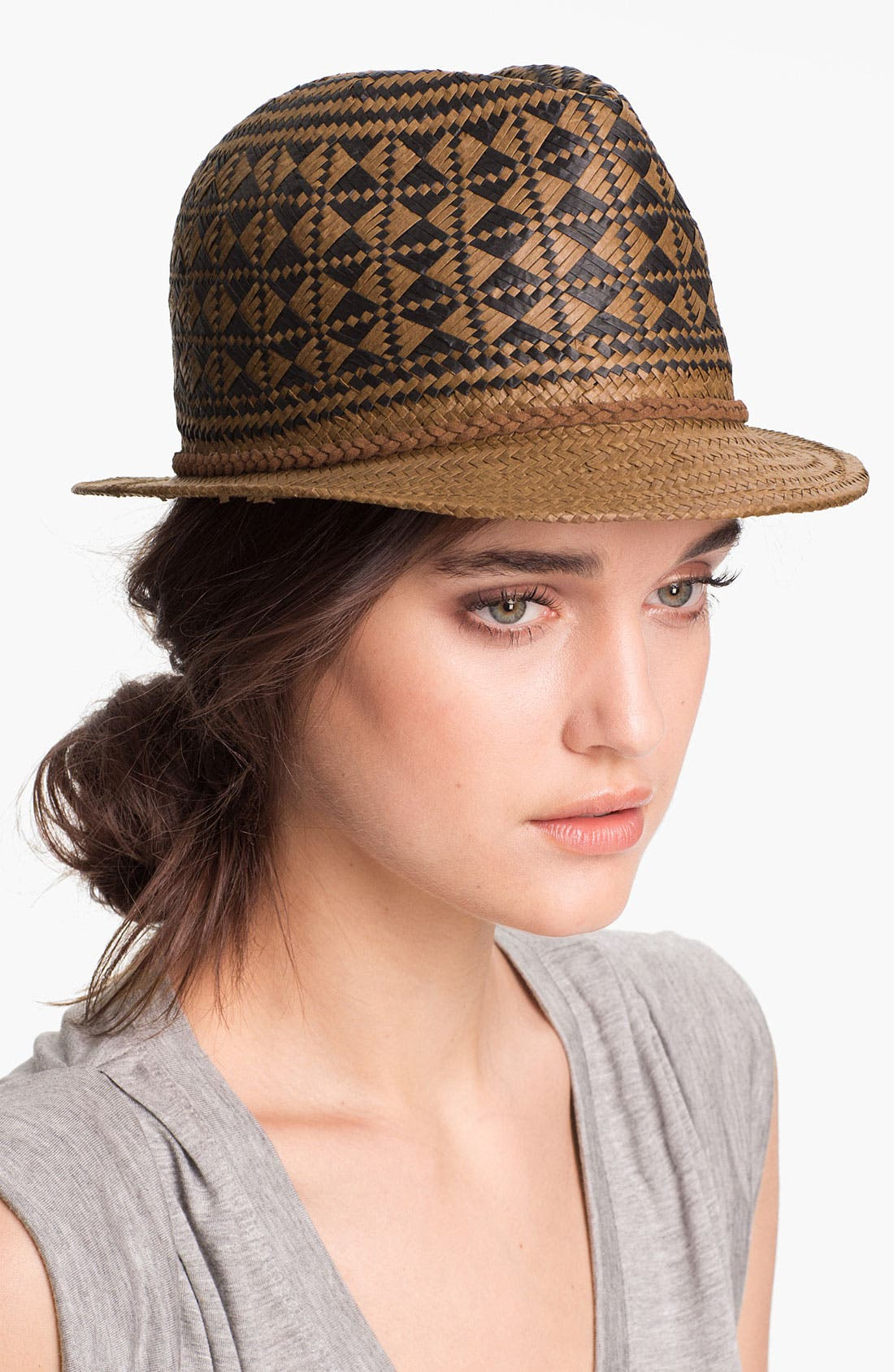Main Image - Tarnish Diamond Weave Fedora