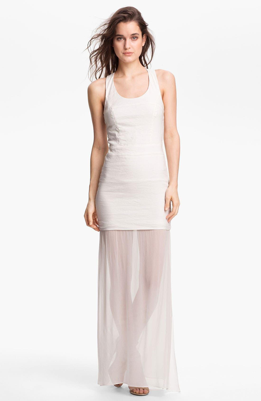 Alternate Image 1 Selected - Nicole Miller Drop Waist Maxi Dress