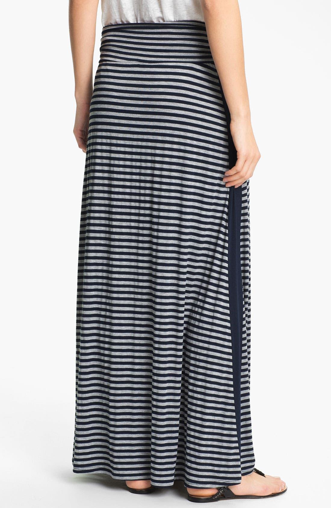 Alternate Image 2  - Bobeau Tuxedo Stripe Maxi Skirt
