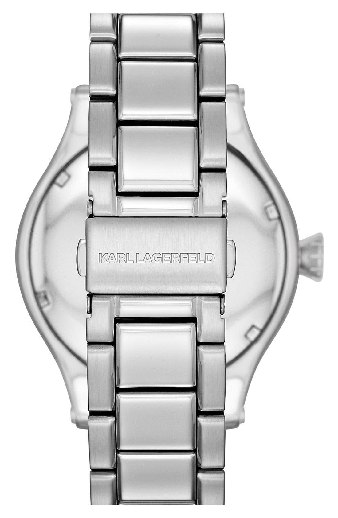 Alternate Image 3  - KARL LAGERFELD Chain Detail Bracelet Watch, 44mm