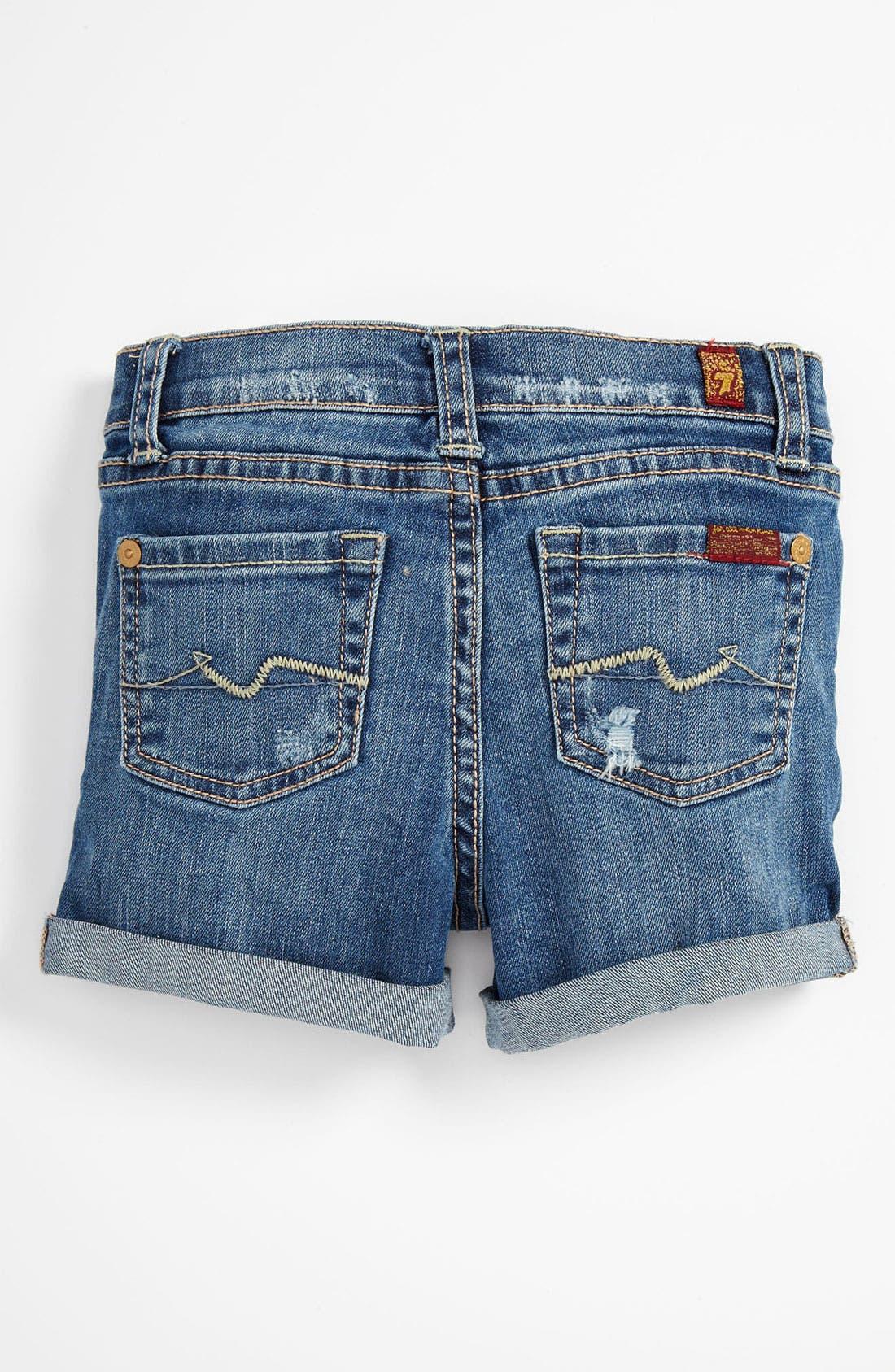 Alternate Image 1 Selected - 7 For All Mankind® Denim Shorts (Infant)