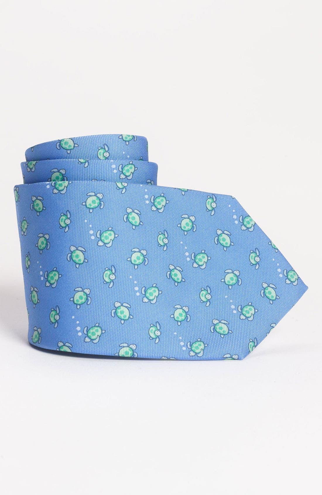 Alternate Image 1 Selected - Brooks Brothers Woven Silk Tie (Big Boys)