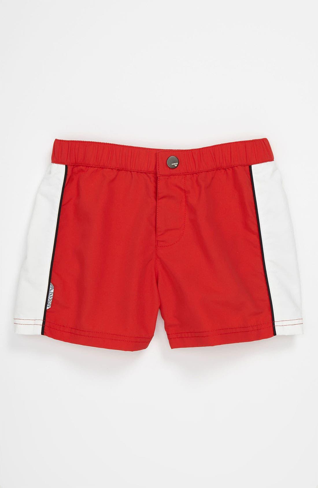 Main Image - Armani Junior Swim Trunks (Toddler & Little Boys)