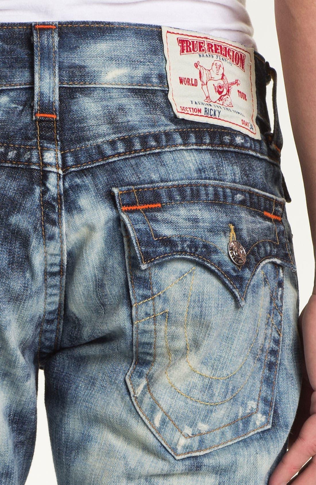 Alternate Image 4  - True Religion Brand Jeans 'Ricky' Straight Leg Jeans (Antelope)