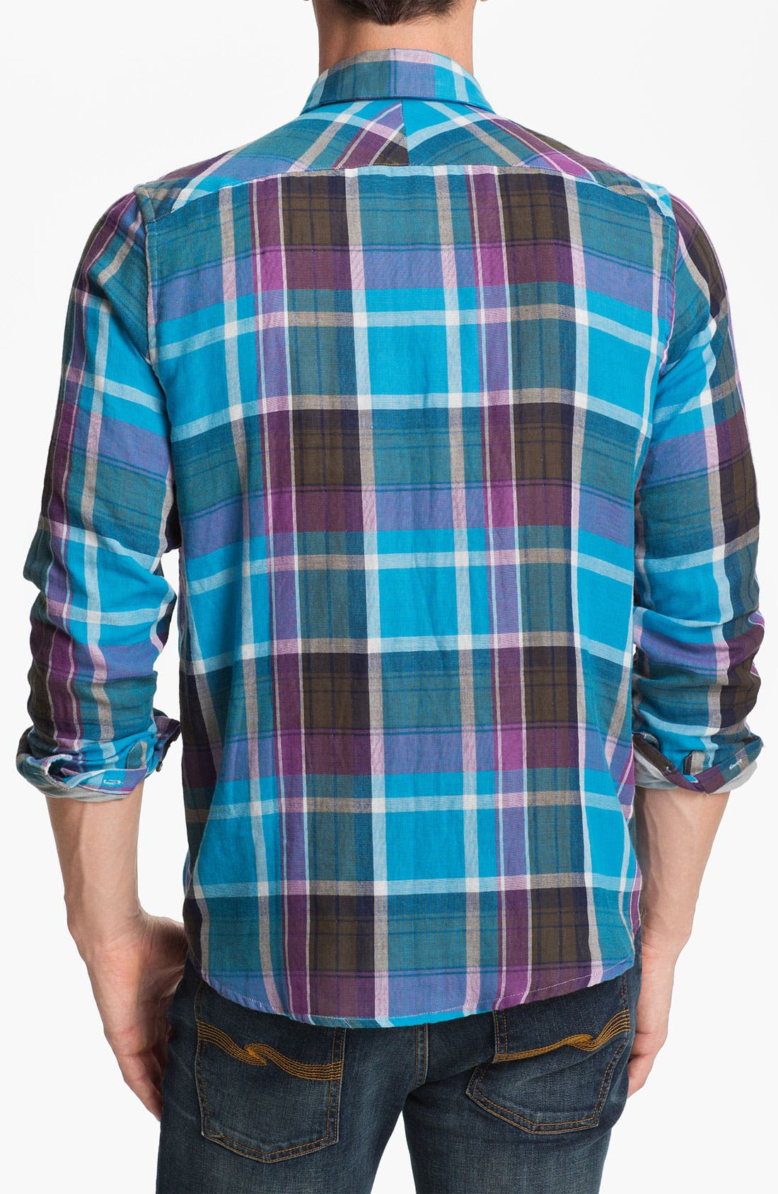 Alternate Image 2  - 7 For All Mankind® Plaid Woven Shirt