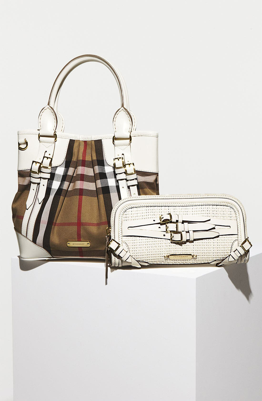 Alternate Image 5  - Burberry 'Bridle' Woven Leather Clutch
