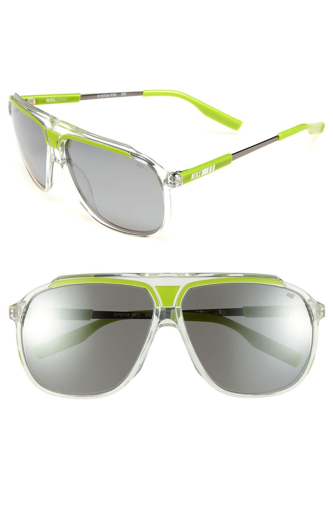 Main Image - Nike 63mm Aviator Sunglasses
