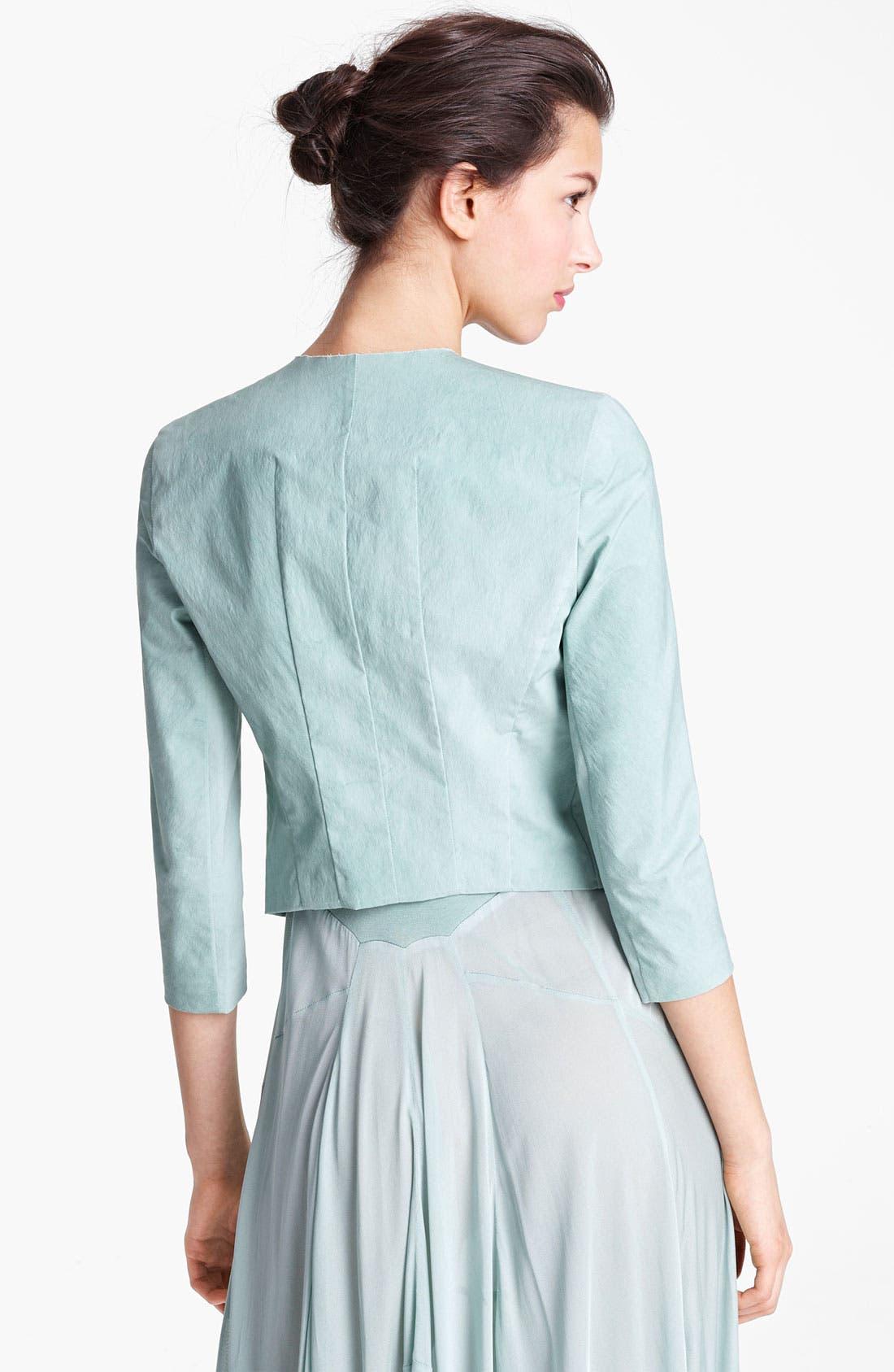 Alternate Image 3  - Donna Karan Collection Mineral Stretch Paper Jacket