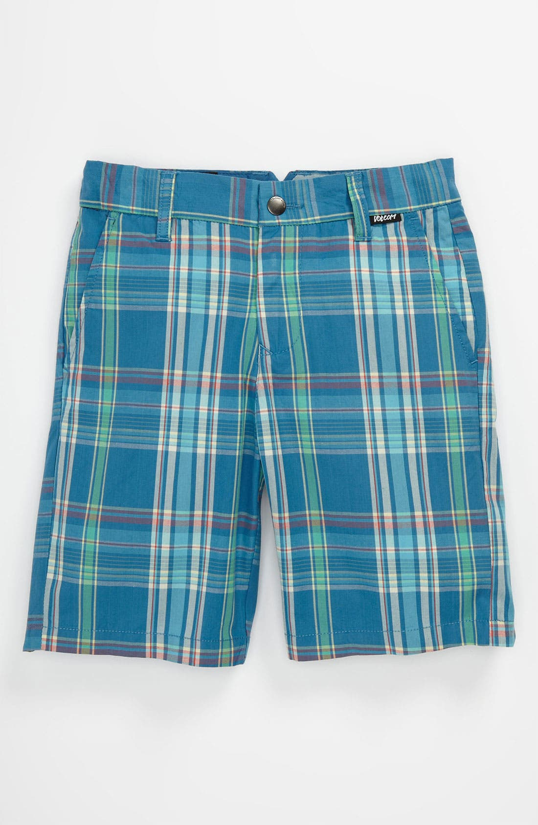 Main Image - Volcom 'Rushy' Plaid Shorts (Big Boys)