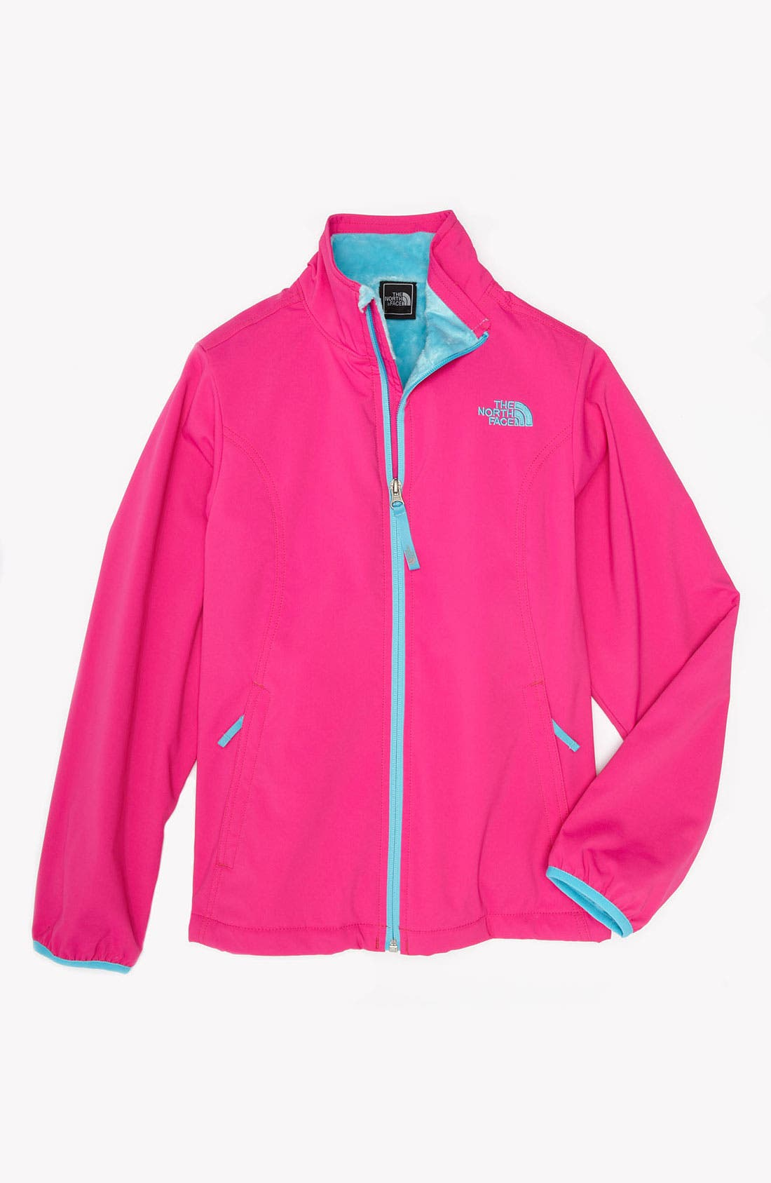 Main Image - The North Face 'Mossbud' Softshell Lightweight Jacket (Little Girls & Big Girls)