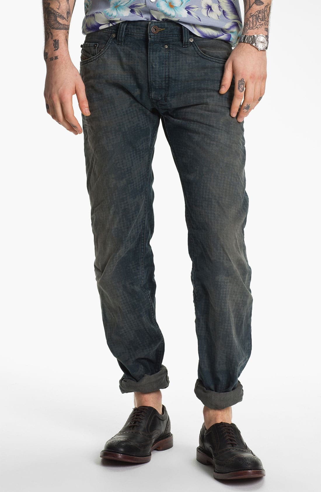 Alternate Image 2  - DIESEL® 'Safado' Straight Leg Jeans (Electric Blue)