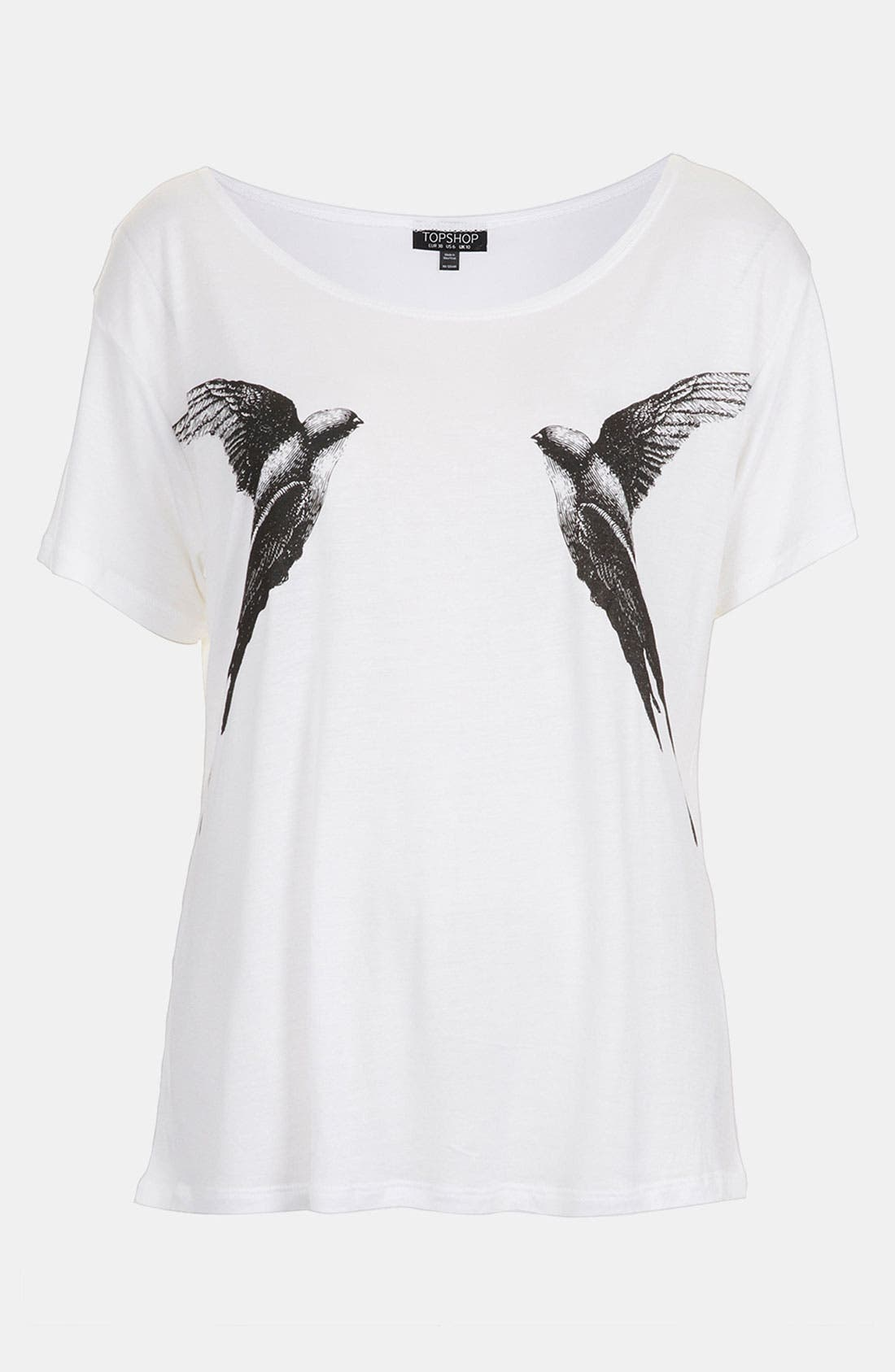 Main Image - Topshop 'Mirror Bird' Graphic Tee