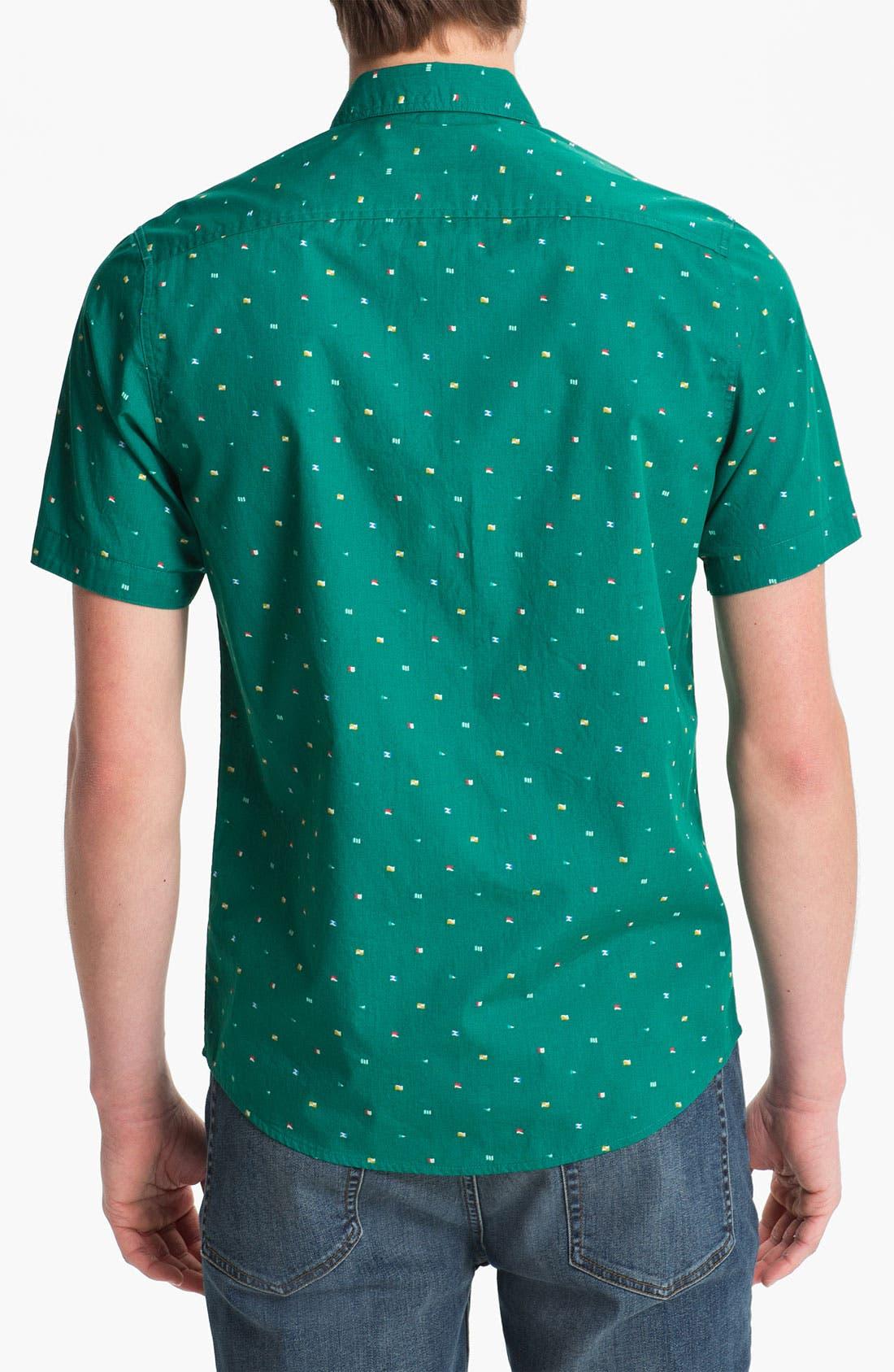Alternate Image 2  - Topman Green Flag Print Shirt