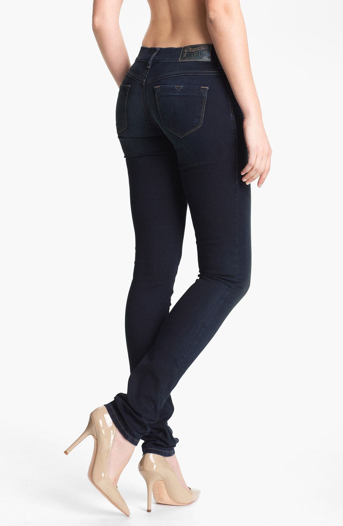Alternate Image 2  - DIESEL® 'Livier' Stretch Denim Skinny Jeans (Blue)