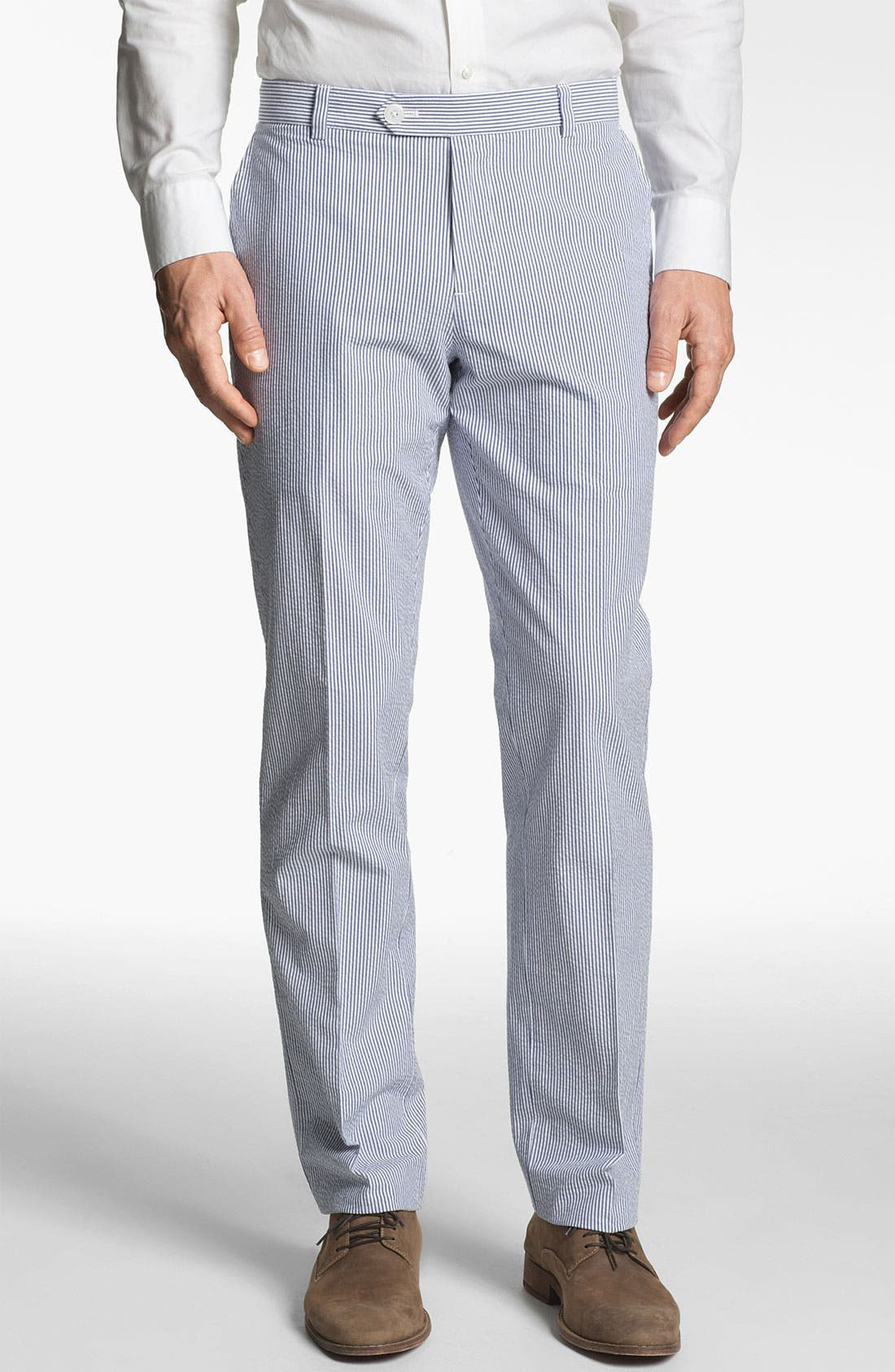 Main Image - Brooks Brothers 'Milano' Seersucker Pants