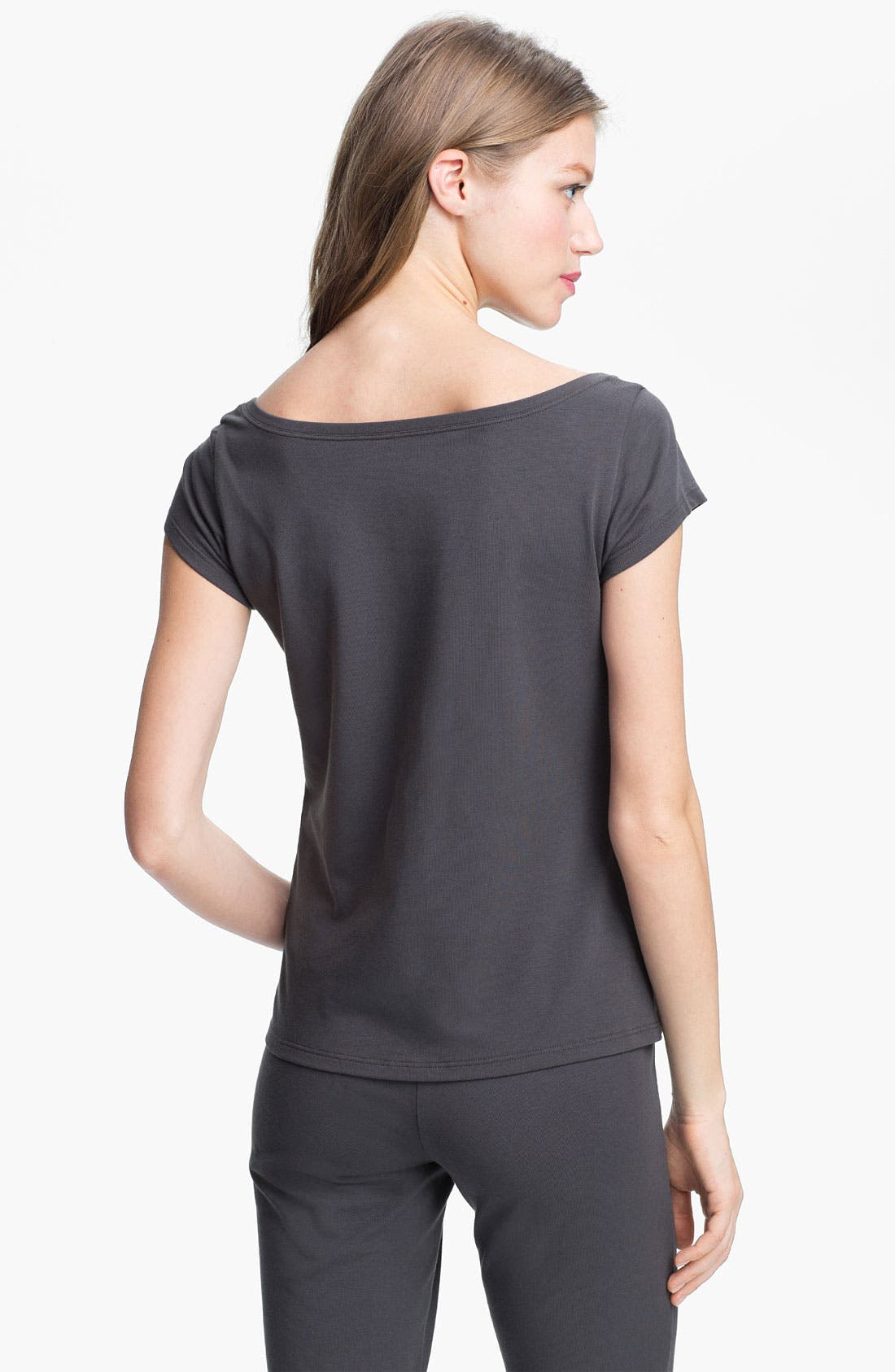 Alternate Image 2  - Eileen Fisher Scoop Neck Cap Sleeve Tee