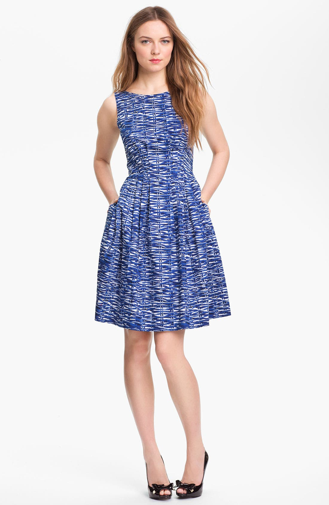 Main Image - kate spade new york 'sonja' stretch cotton fit & flare dress