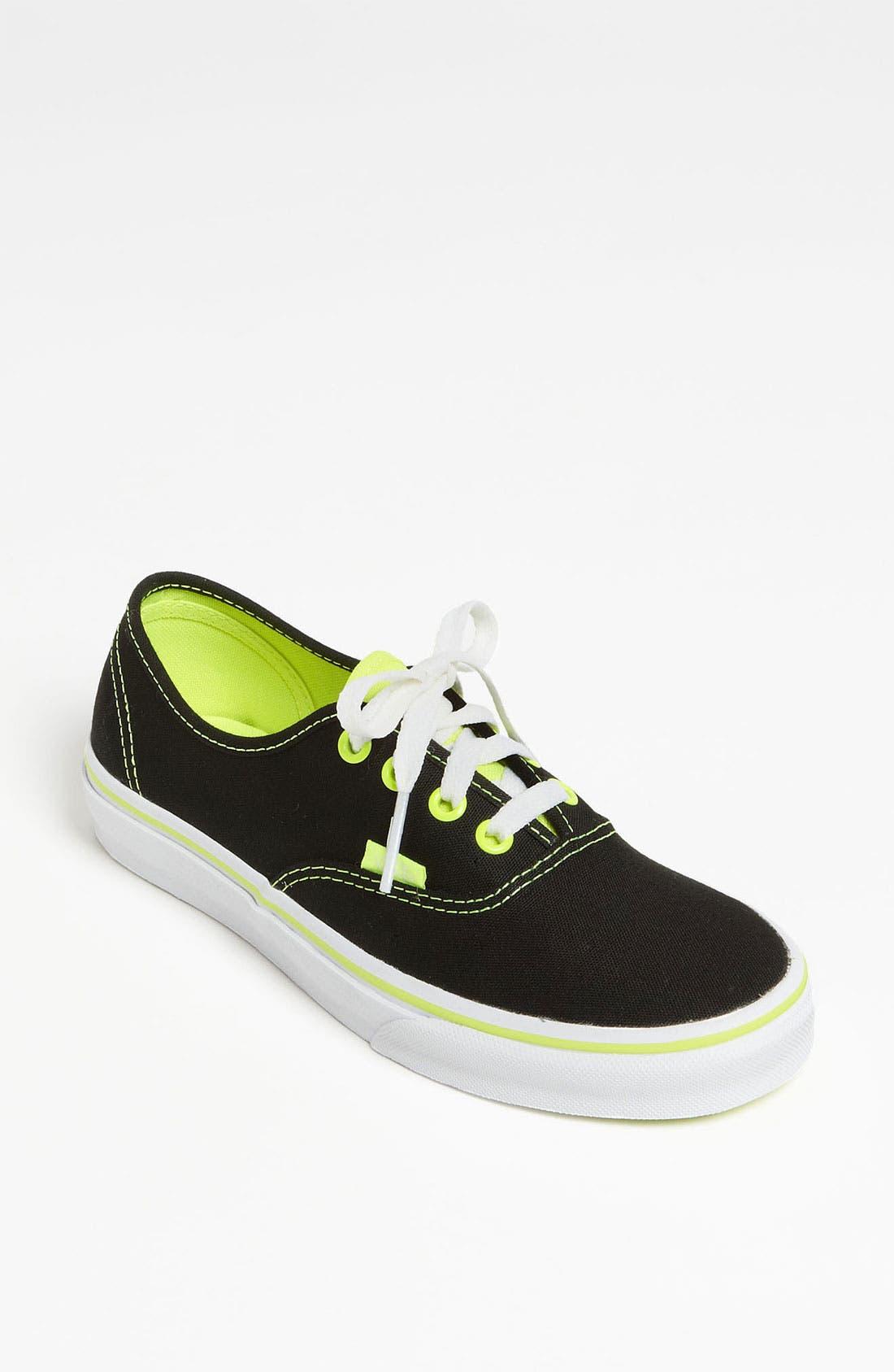 Alternate Image 1 Selected - Vans 'Authentic - Neon Pop' Sneaker (Women)