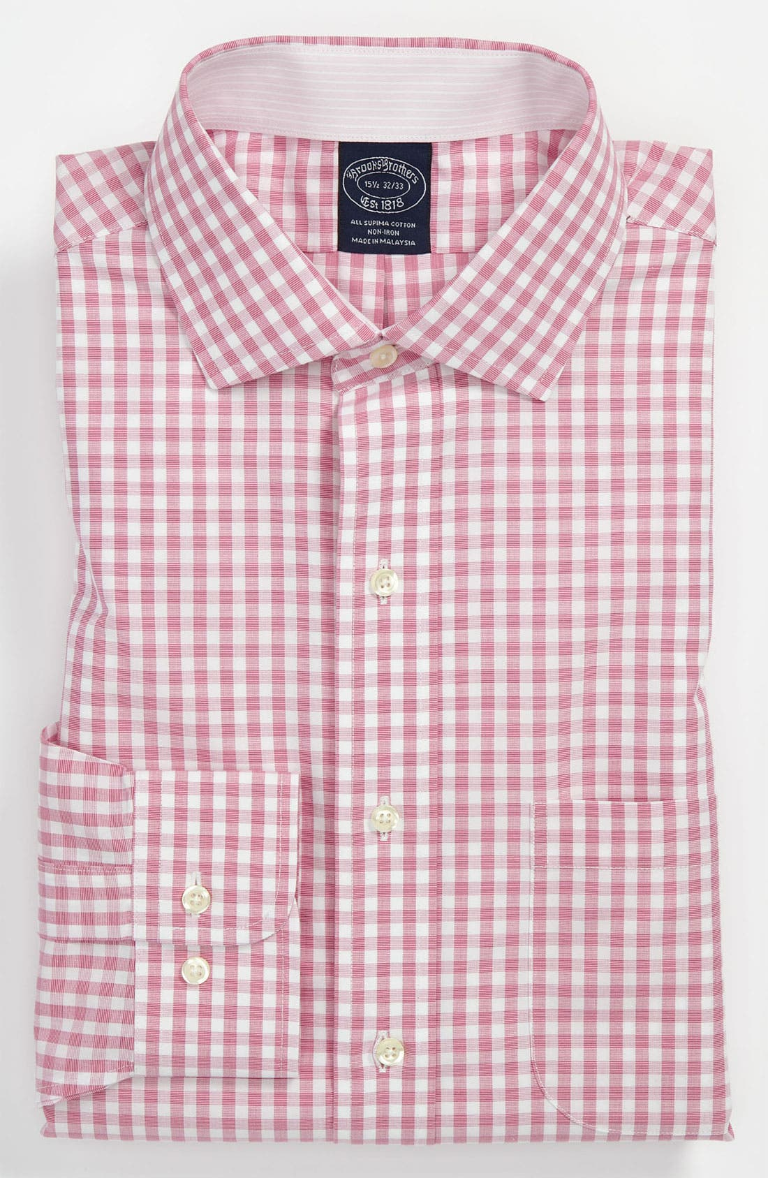 Alternate Image 1 Selected - Brooks Brothers Slim Fit Non-Iron Dress Shirt (3 for $225)