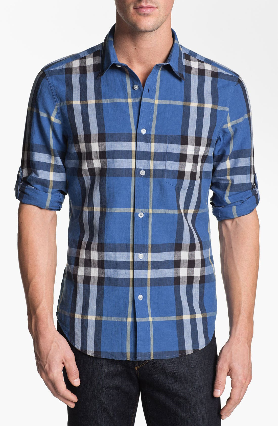 Main Image - Burberry Brit Linen Blend Sport Shirt