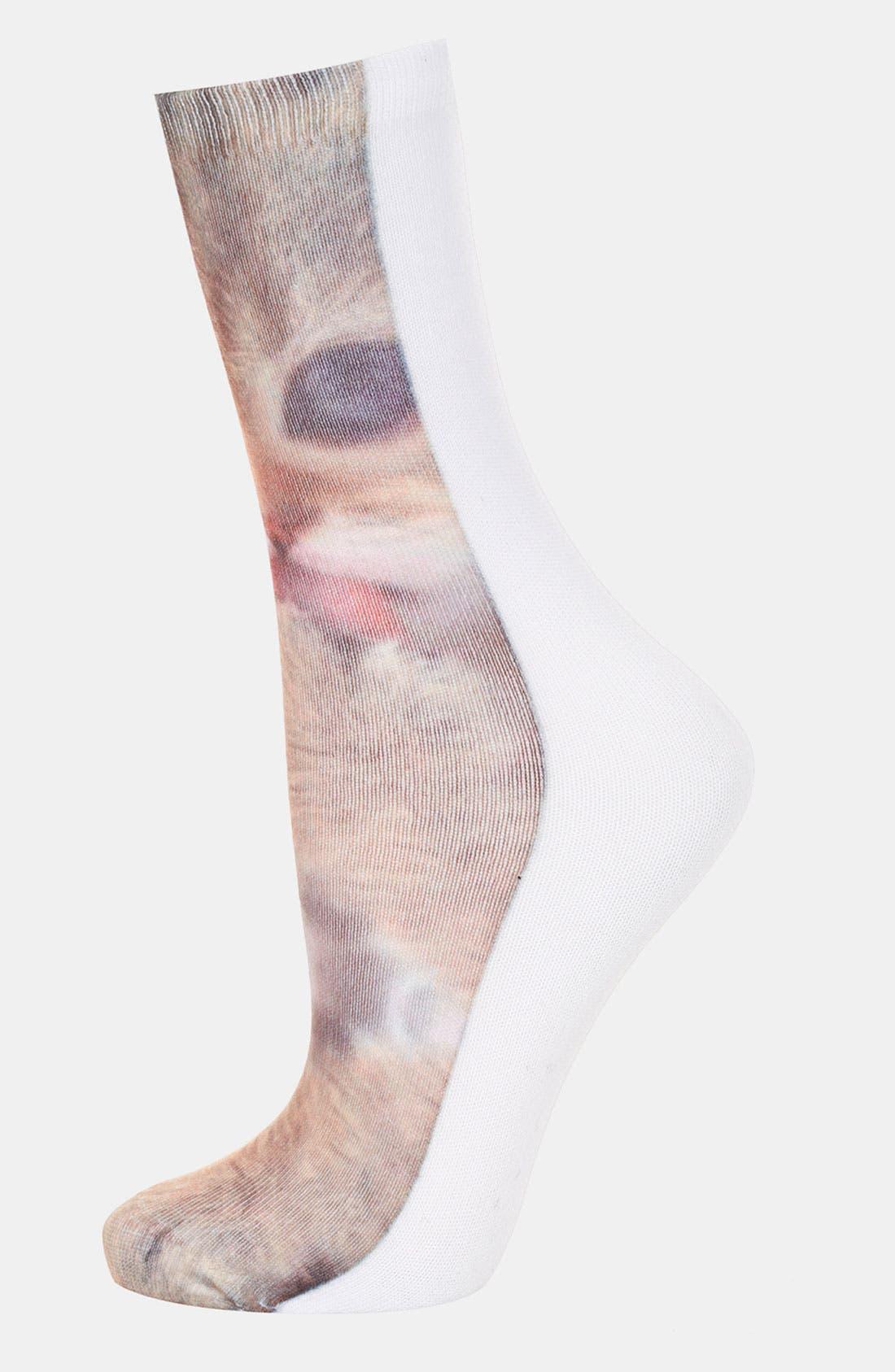 Alternate Image 1 Selected - Topshop 'Cheeky Kitten' Socks
