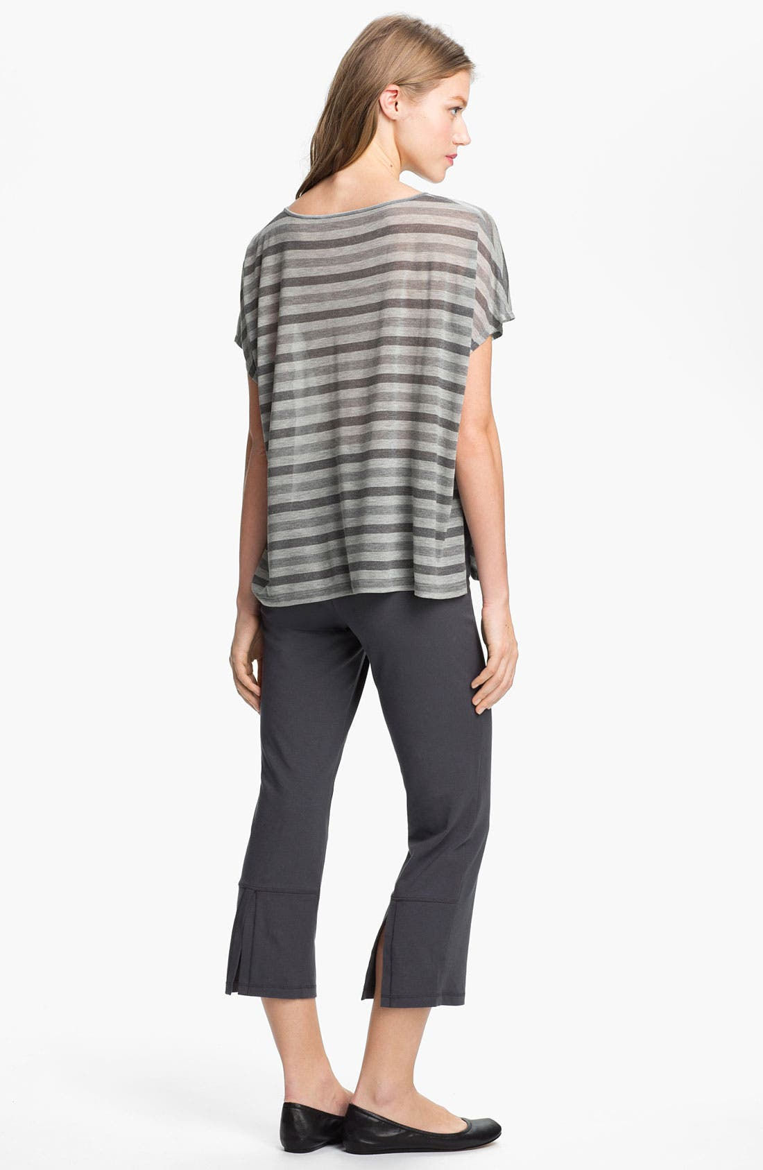 Alternate Image 4  - Eileen Fisher Scoop Neck Stripe Top
