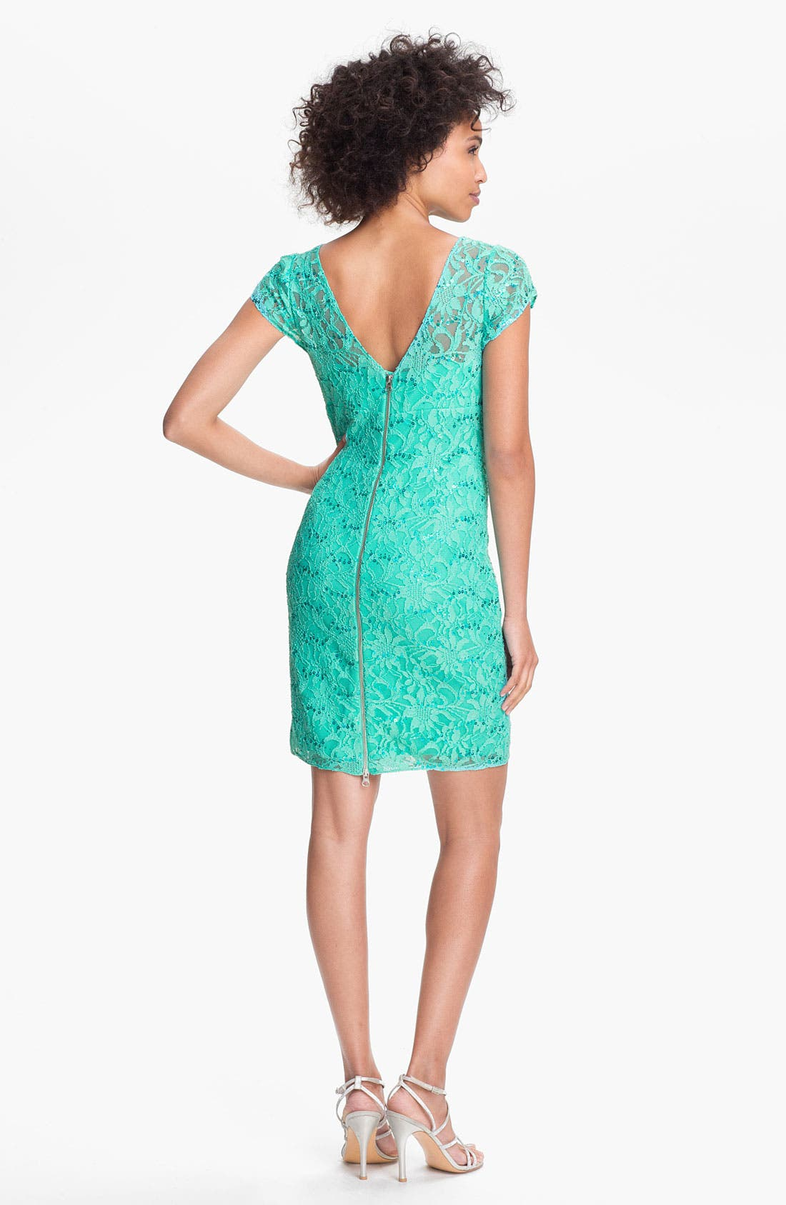 Alternate Image 2  - Hailey by Adrianna Papell Embellished Lace Sheath Dress (Online Only)