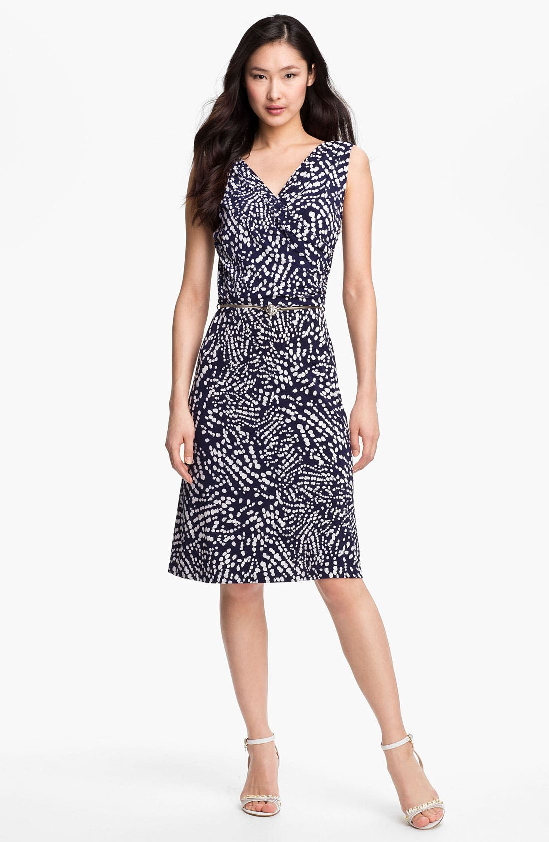 Main Image - Anne Klein Abstract Dot Print Dress