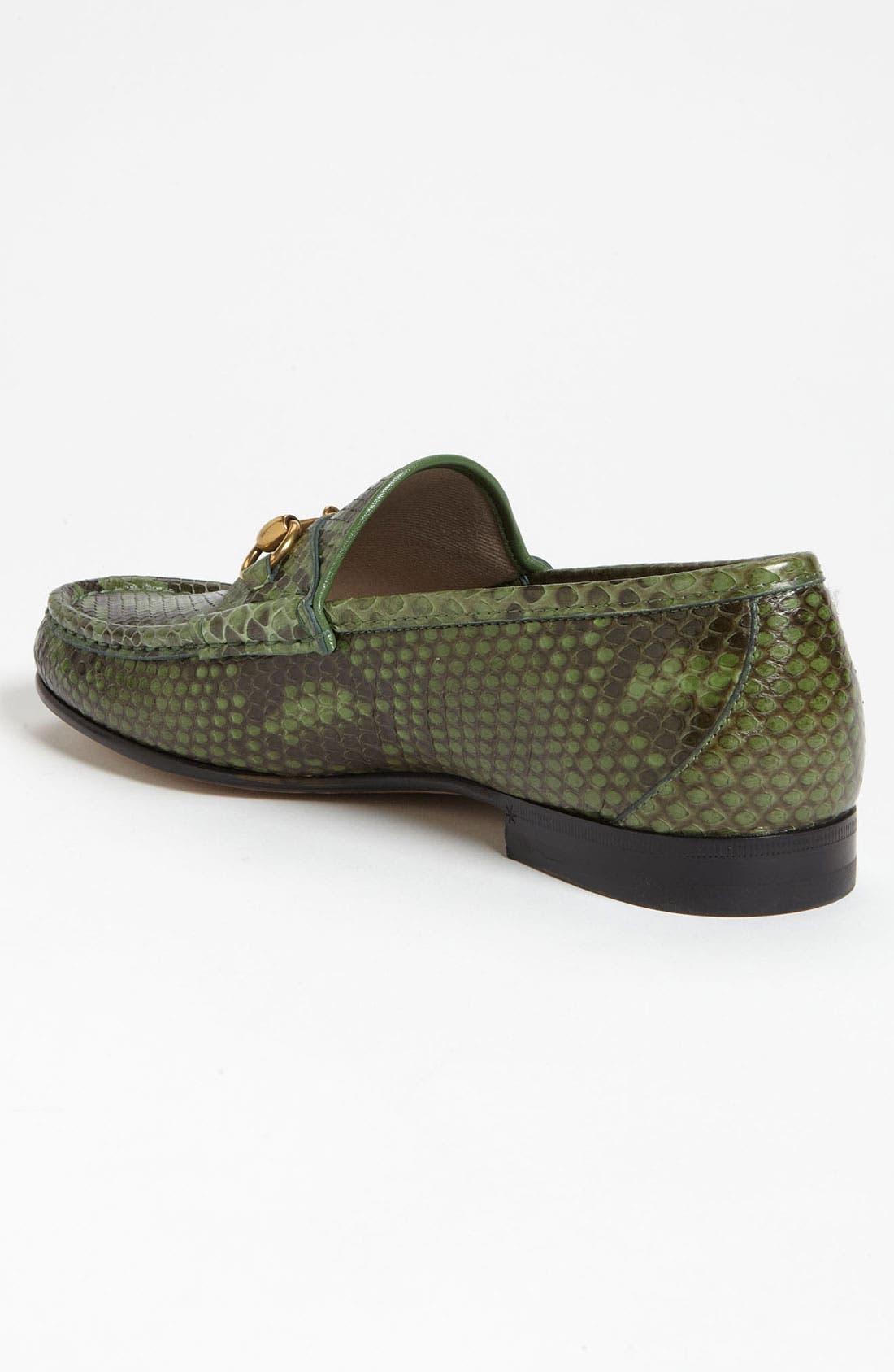 Alternate Image 2  - Gucci 'Roos' Python Bit Loafer