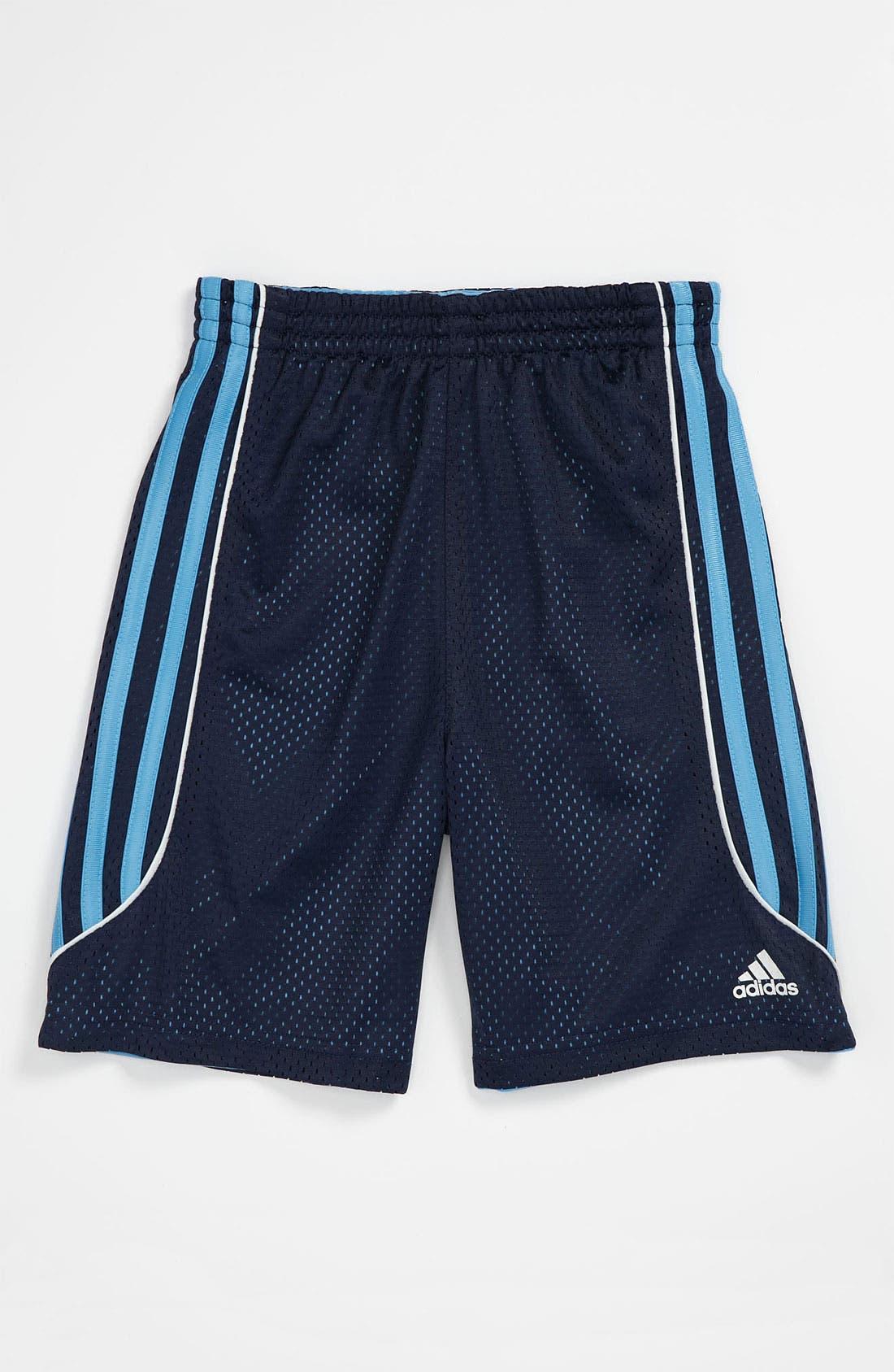 Alternate Image 1 Selected - adidas 'Flip Side' Reversible Shorts (Little Boys)