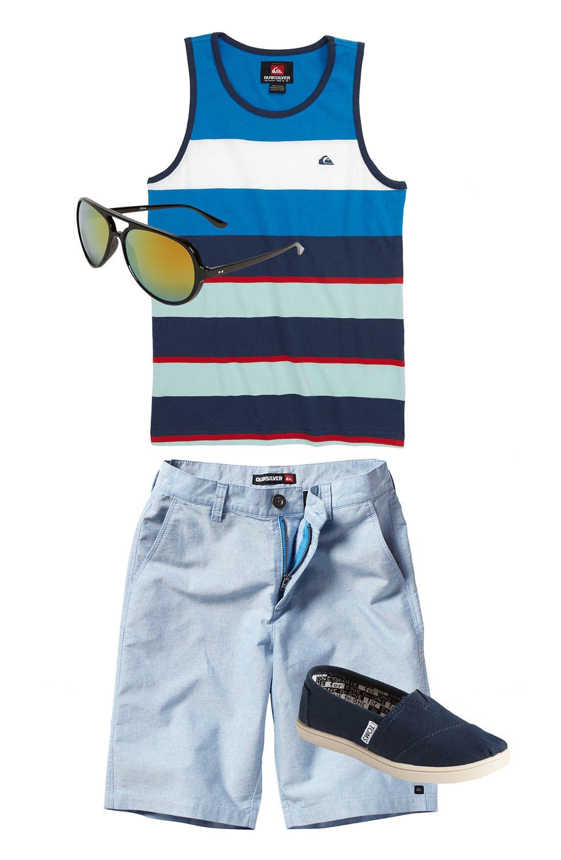 Alternate Image 1 Selected - Quiksilver Shirt & Shorts & Icon Eyewear Sunglasses (Big Boys)