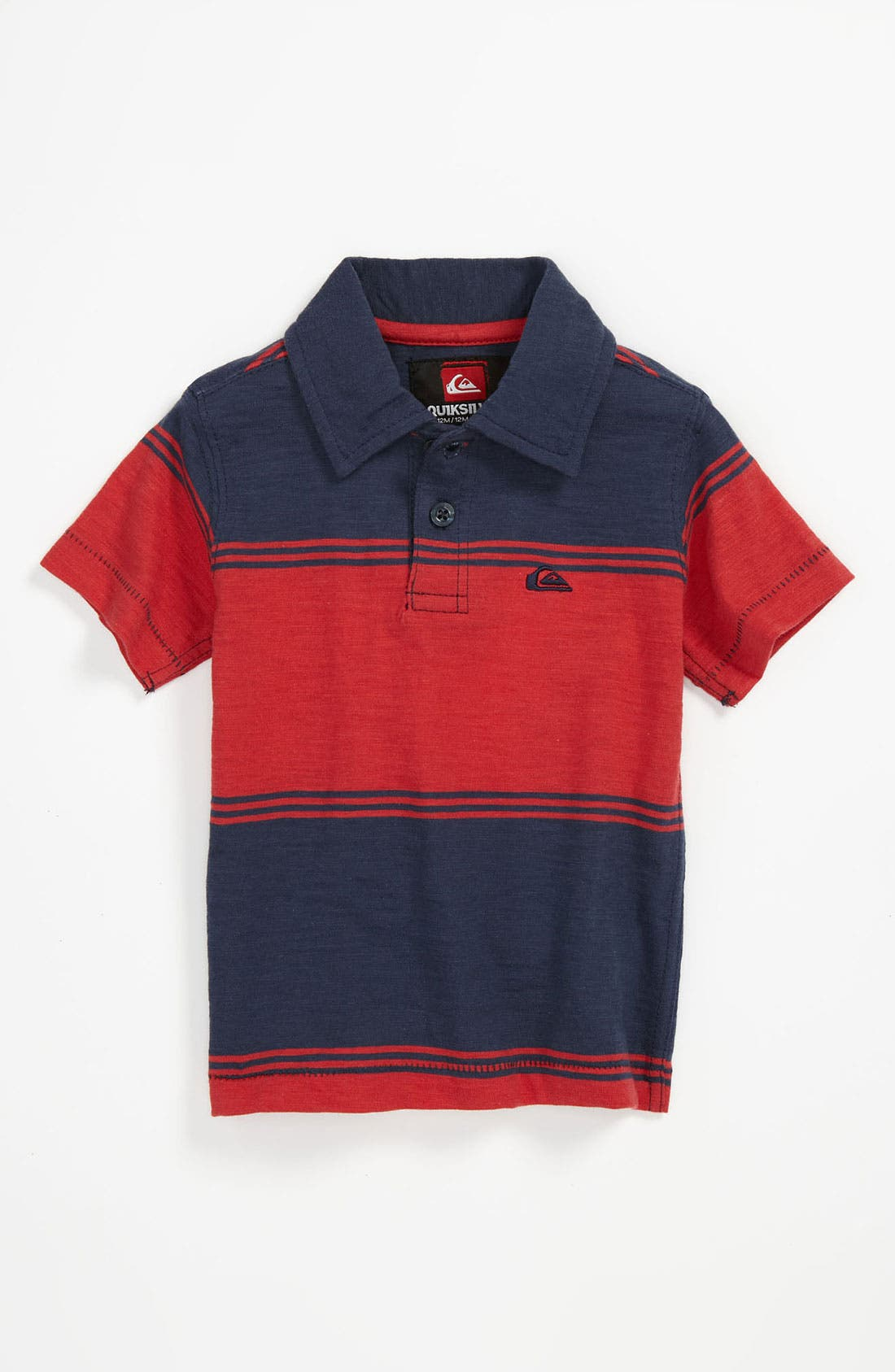 Alternate Image 1 Selected - Quiksilver 'Big Cheese' Stripe Polo (Baby)
