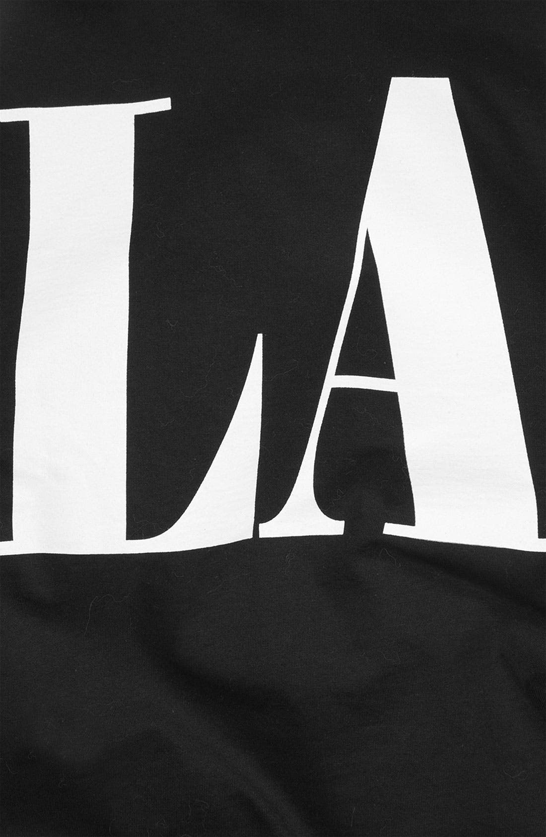Alternate Image 2  - Topshop 'LA' Roll Sleeve Graphic Tee