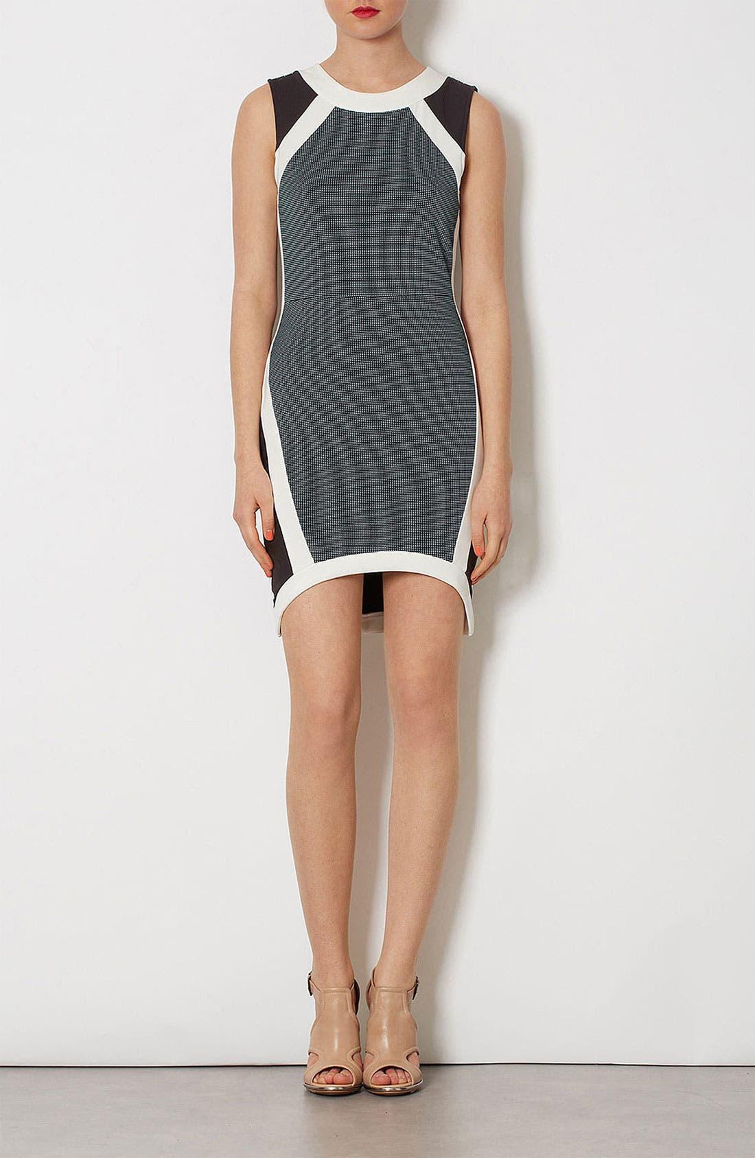 Alternate Image 2  - Topshop Mixed Media Body-Con Dress